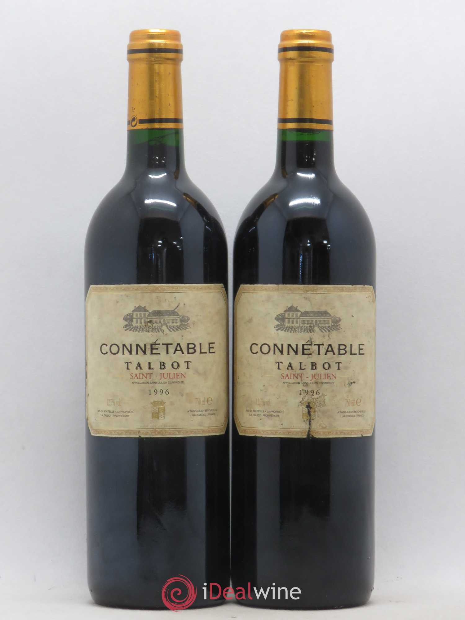 Connétable de Talbot Second vin  1996 - Lot de 2 Bouteilles