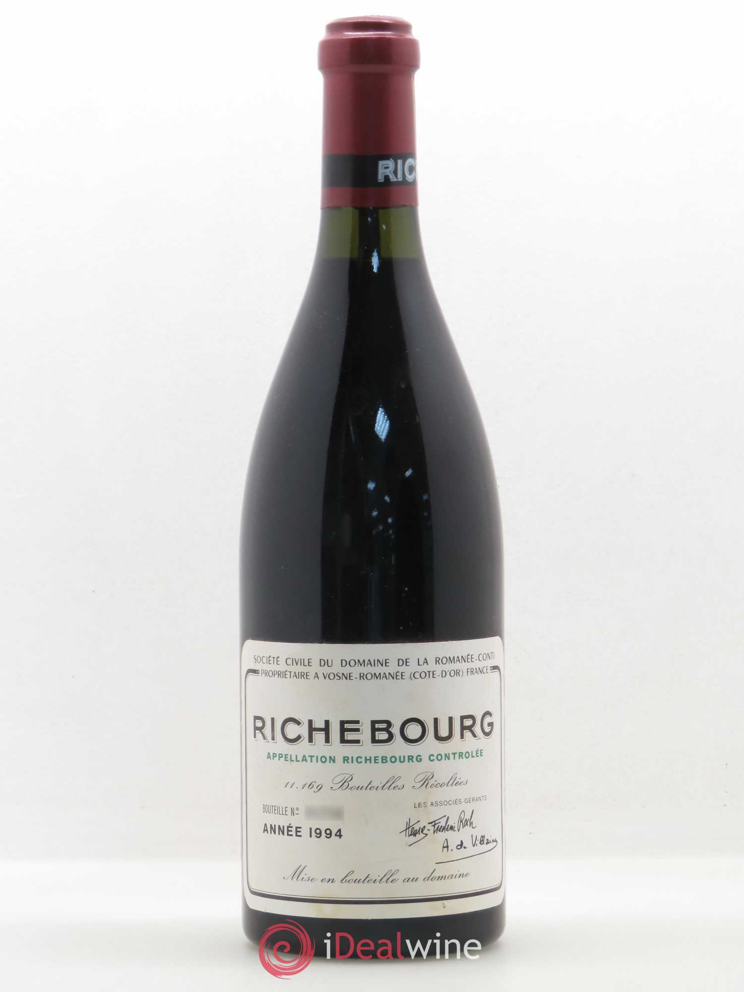 Richebourg Grand Cru Domaine de la Romanée-Conti  1994 - Lot of 1 Bottle