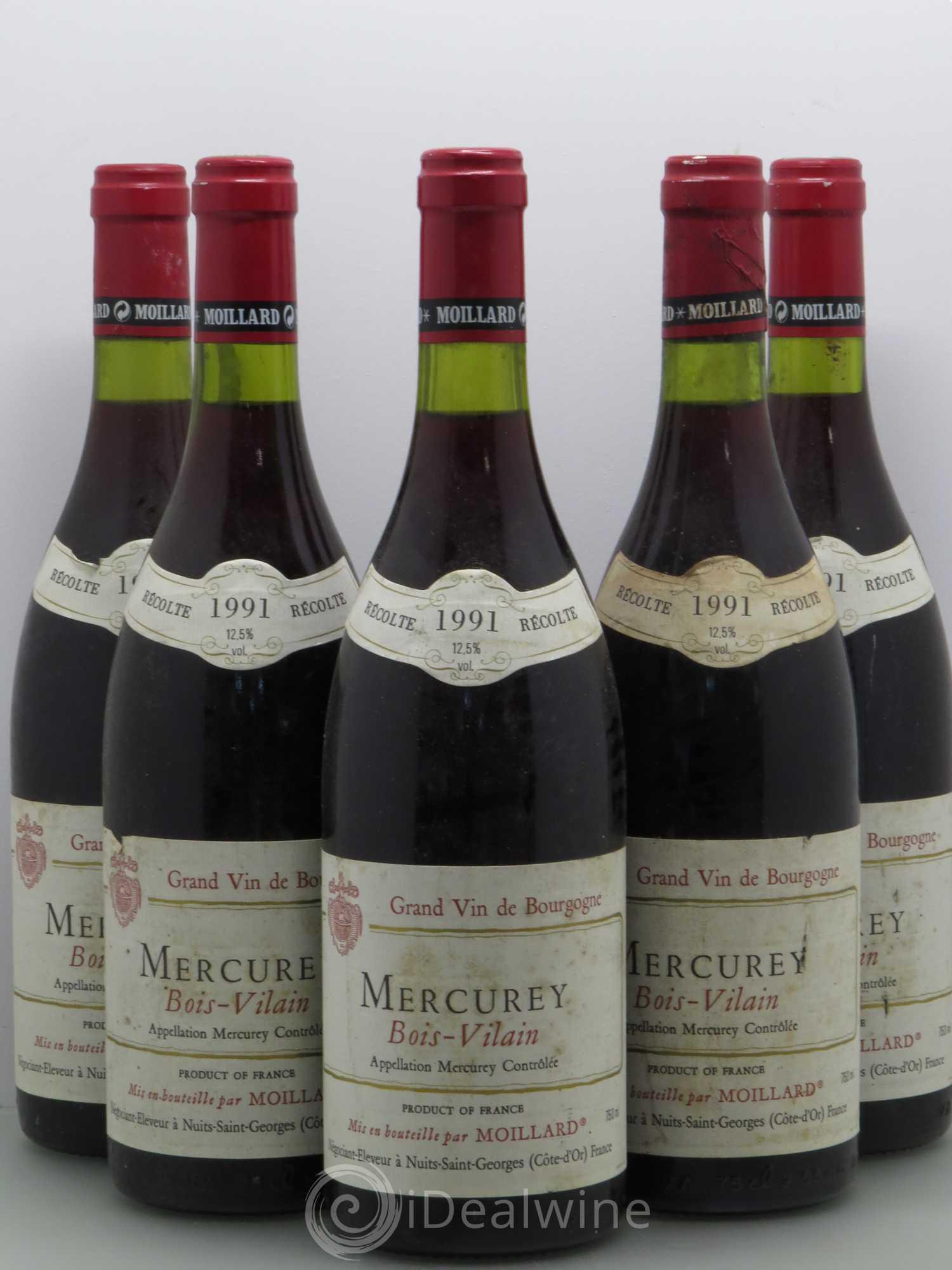 Acheter Mercurey Bois Vilain Moillard Sans Prix De R Serve 1991