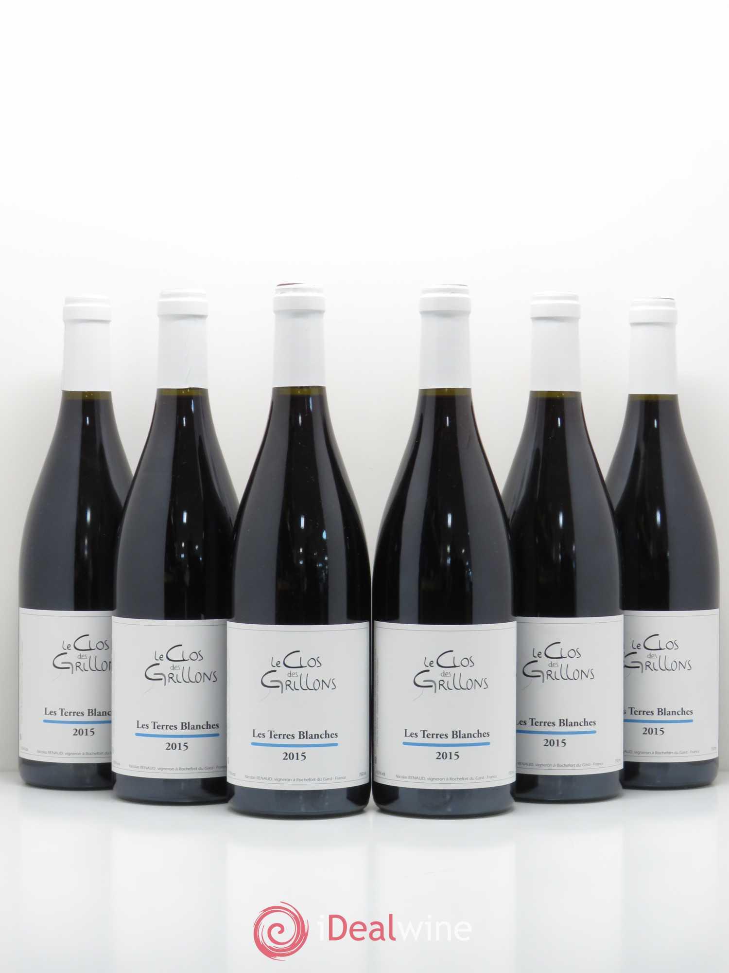 Buy Cotes Du Rhone Terres Blanches Clos Des Grillons 2015 Lot 9047