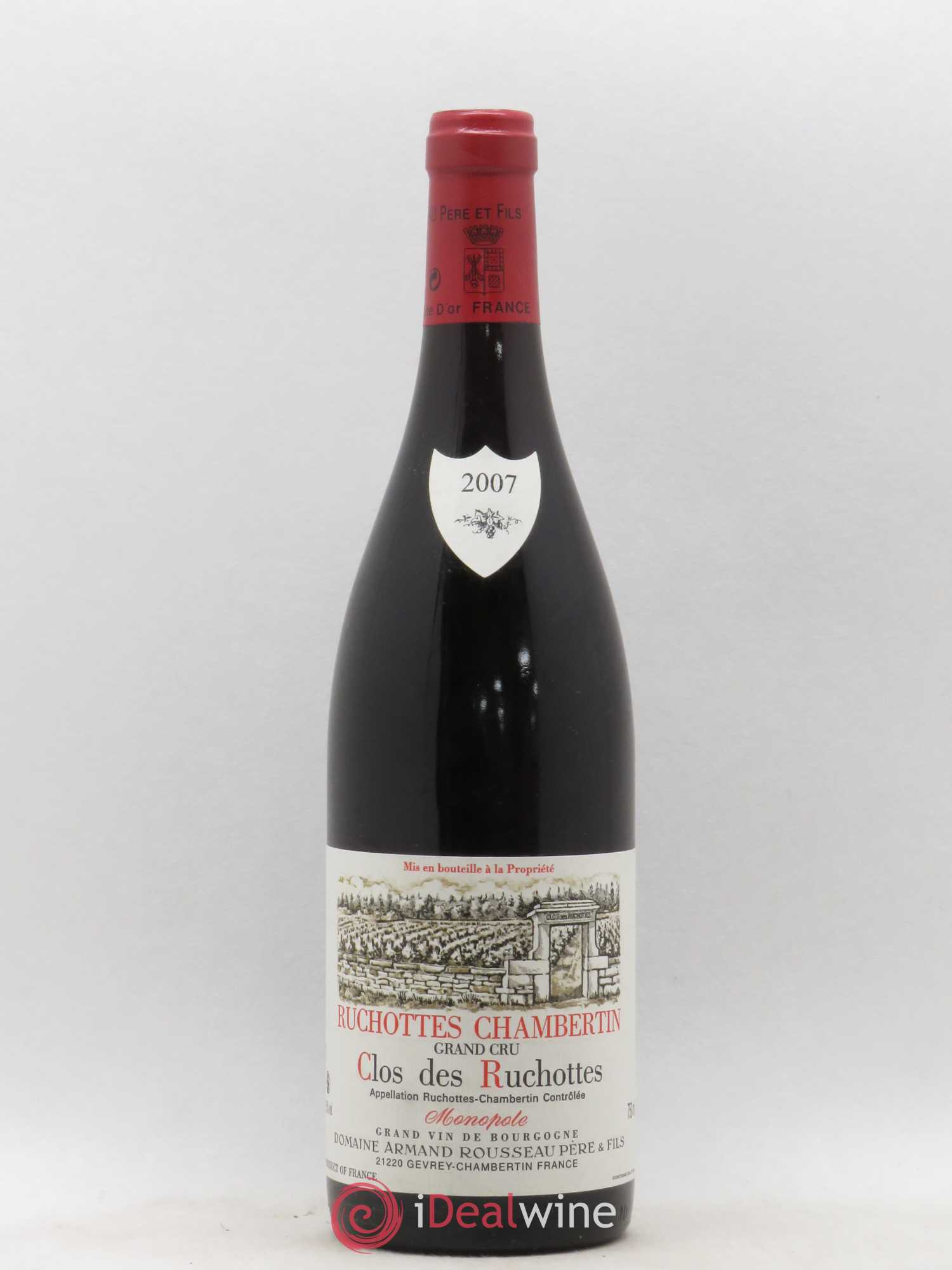 Ruchottes-Chambertin Grand Cru Clos des Ruchottes Armand Rousseau (Domaine)  2007 - Lot of 1 Bottle