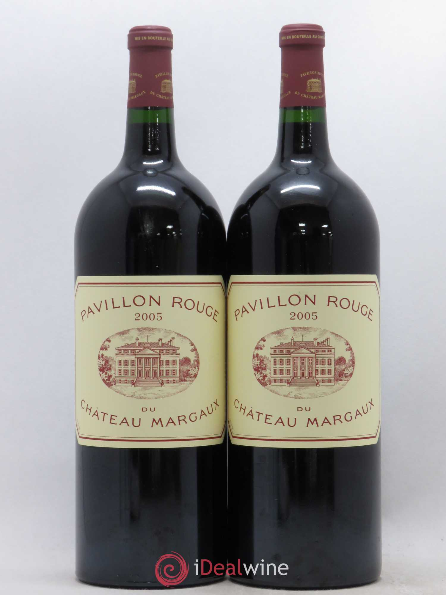 Pavillon Rouge du Château Margaux Second Vin  2005 - Lot of 2 Magnums