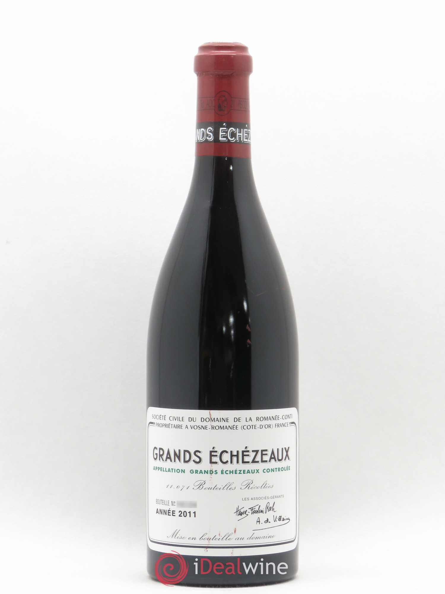 Grands-Echézeaux Grand Cru Domaine de la Romanée-Conti  2011 - Lot of 1 Bottle