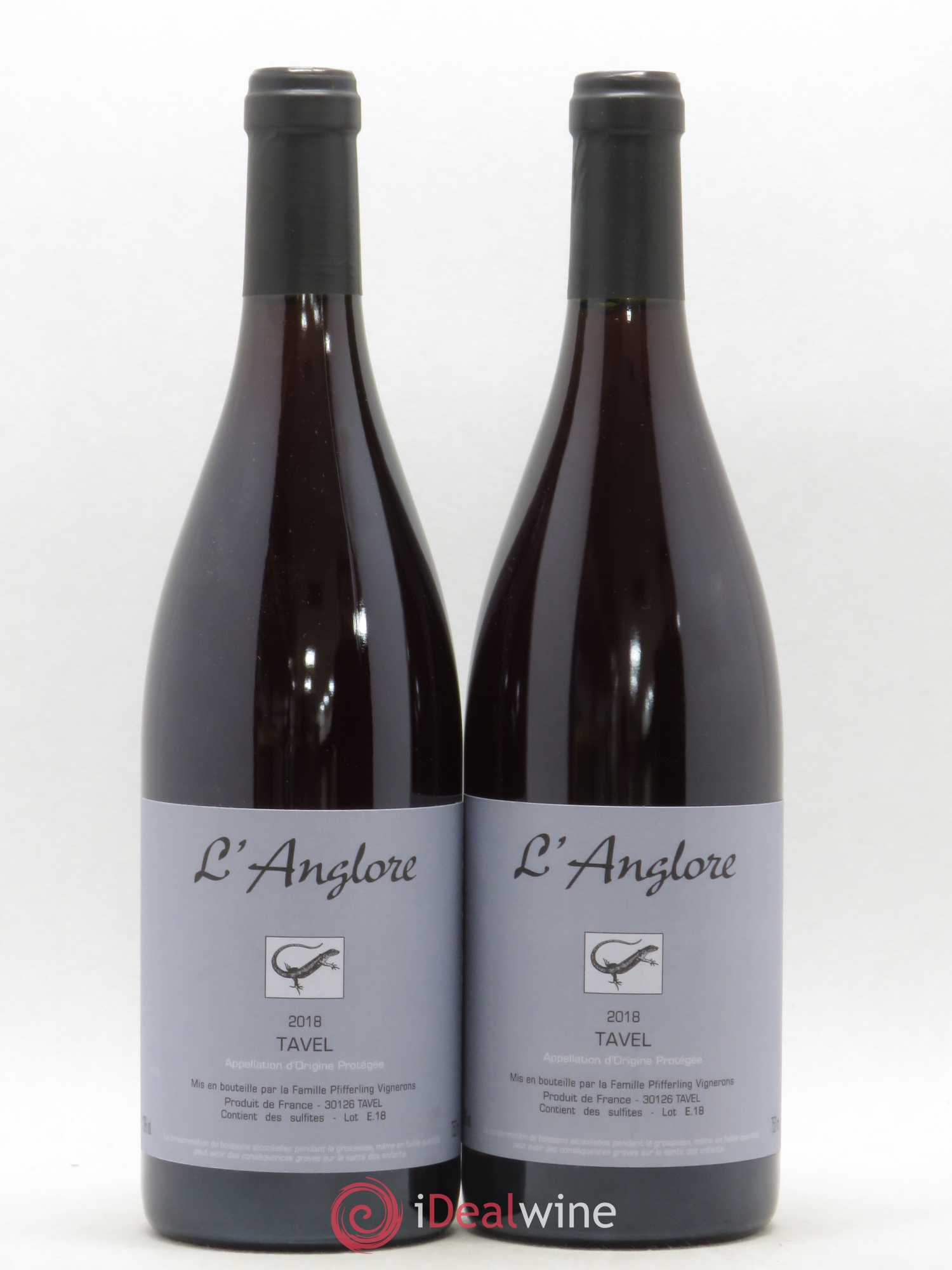 Tavel L'Anglore  2018 - Lot of 2 Bottles