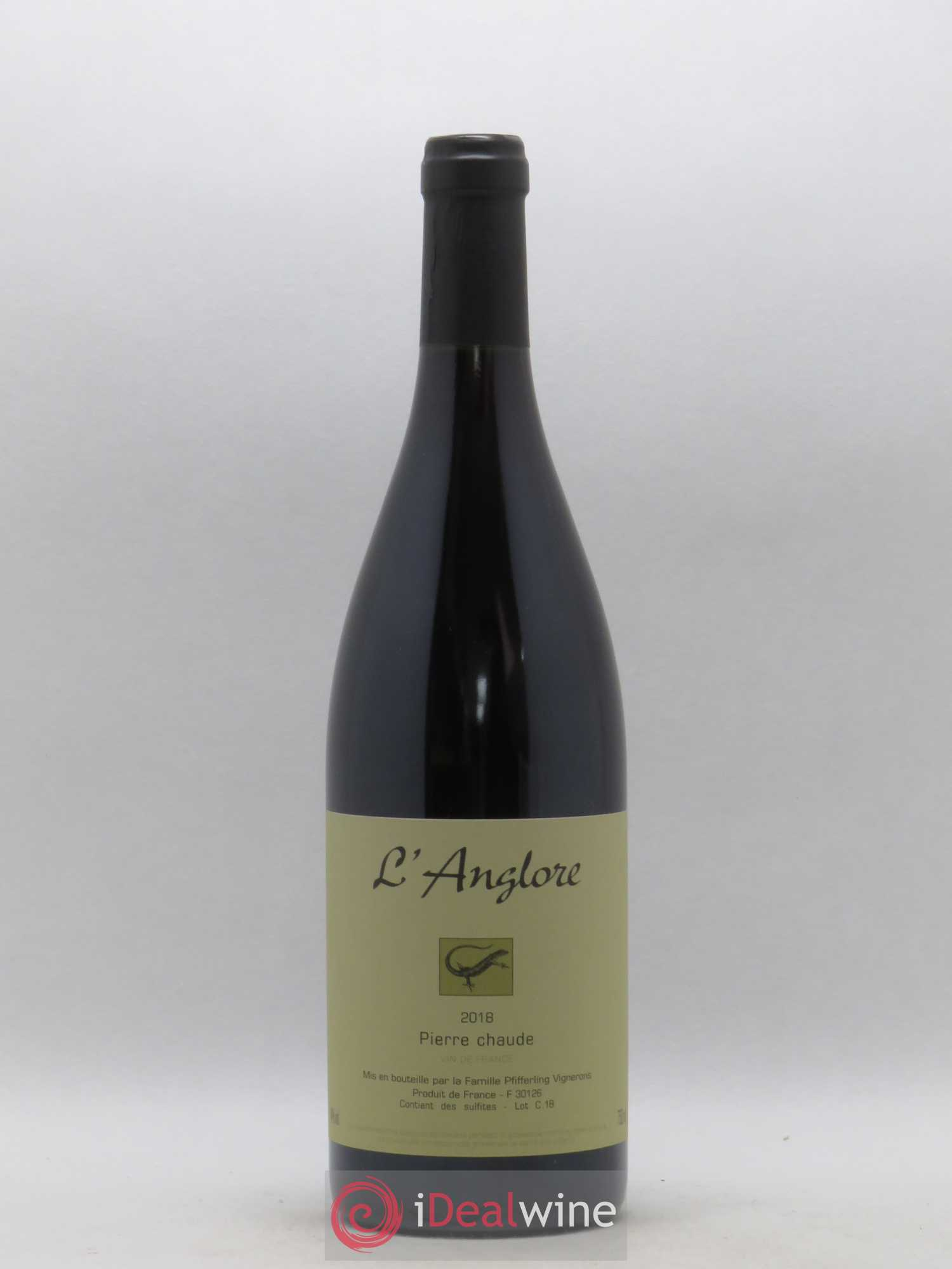 Vin de France Pierre chaude L'Anglore  2018 - Lot of 1 Bottle