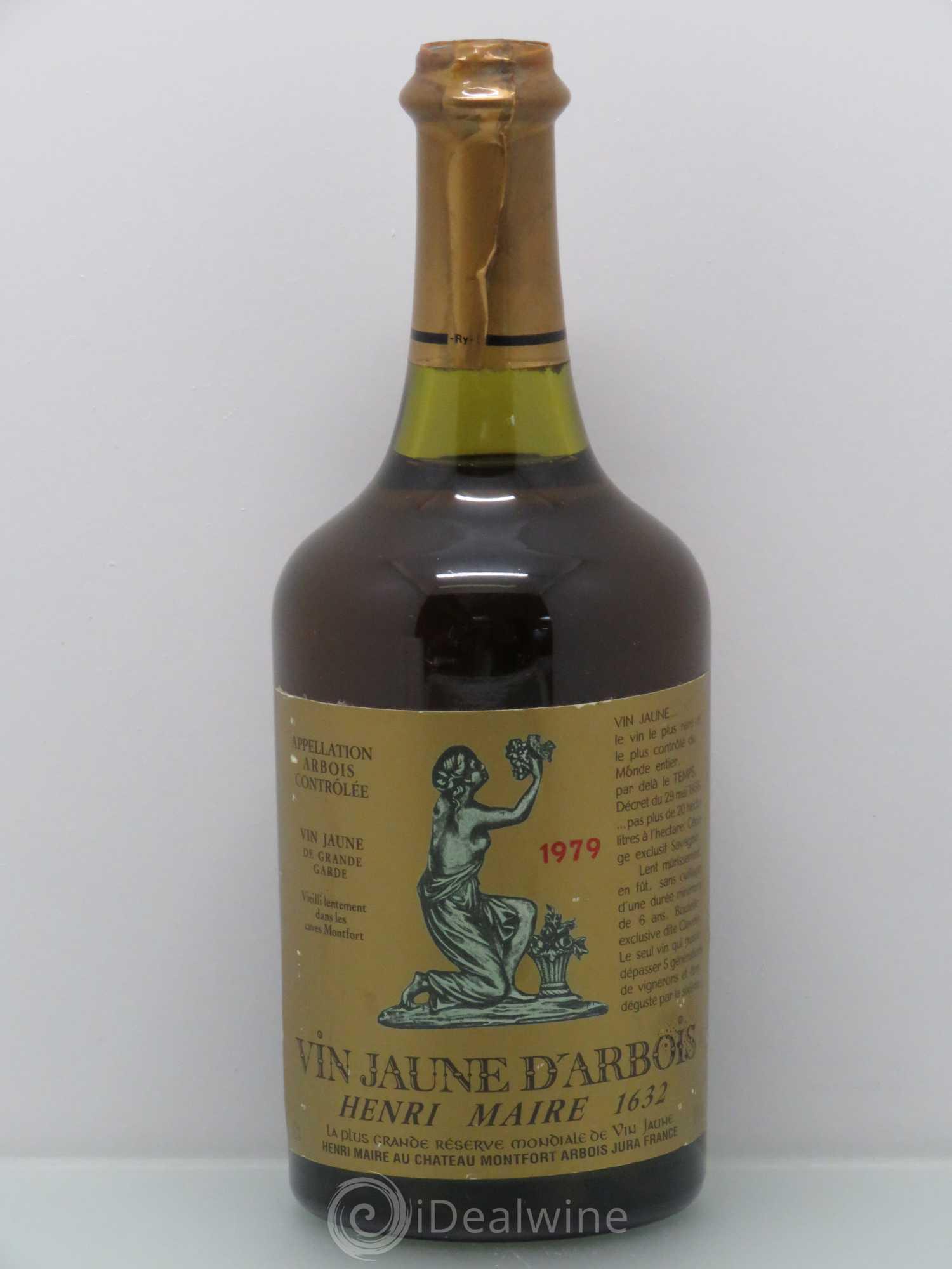 Acheter Jura Vin Jaune Henri Maire 1979 Lot 1517