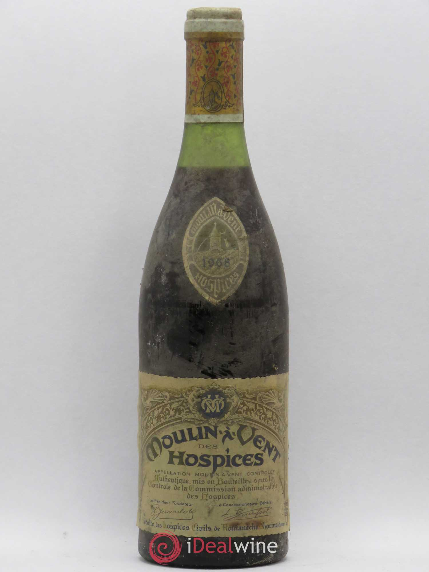 Moulin à Vent des Hospices Collin-Bourisset 1968 - Lot de 1 Bouteille