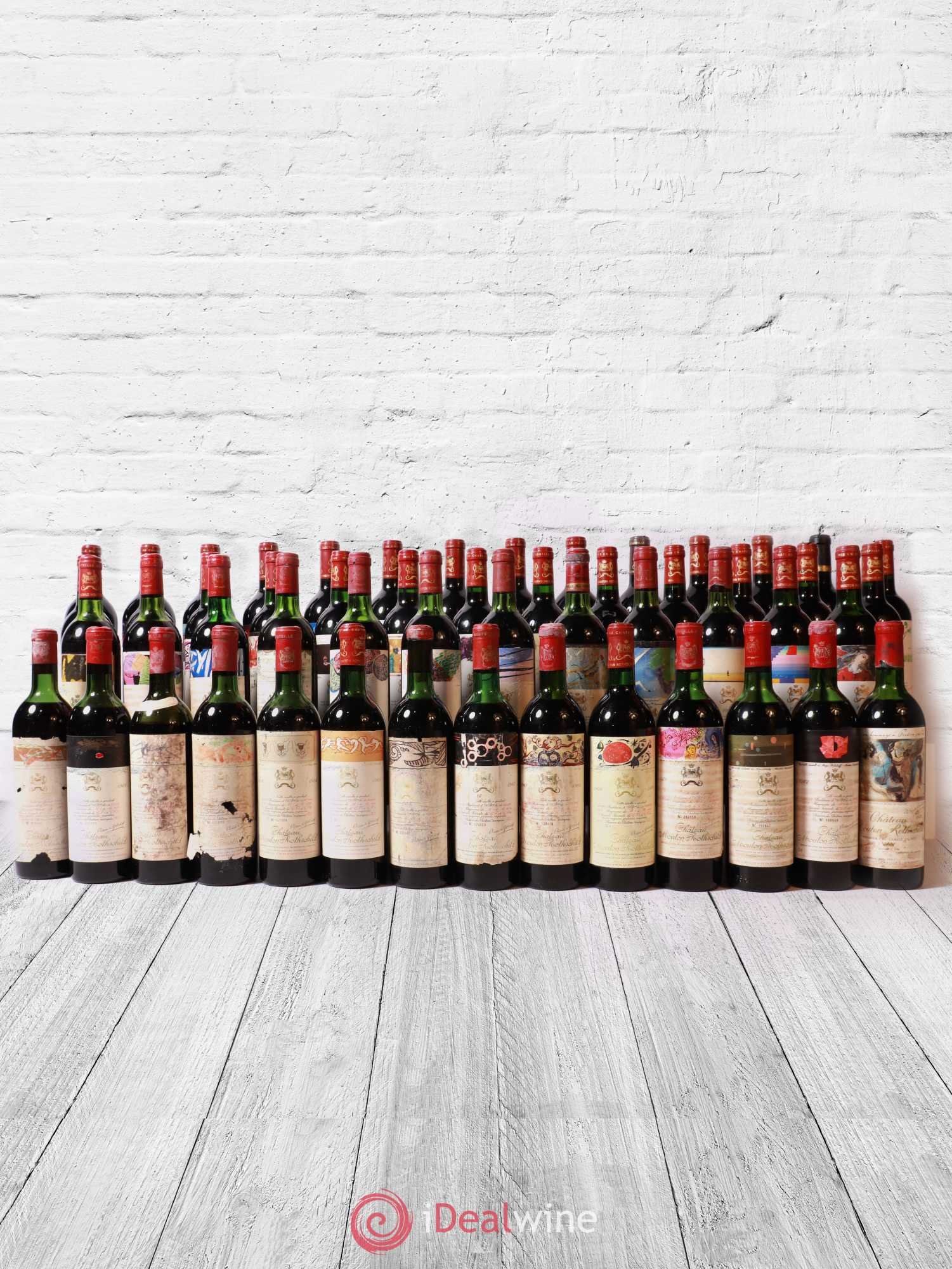 Mouton Rothschild 1960-2012 (Verticale 53 bt)   - Lot de 53 Bouteilles