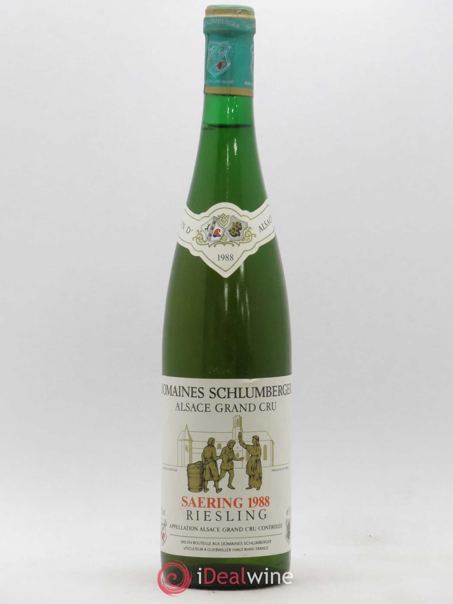 Riesling Schlumberger Saering 1988 - Lot de 1 Bouteille