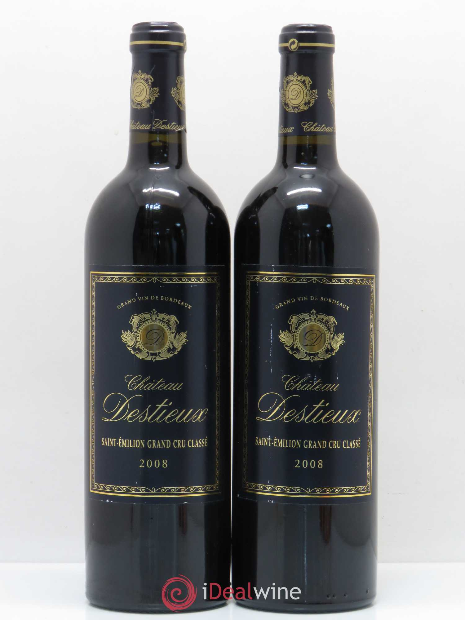 Château Destieux Grand Cru Classé  2008 - Lot of 2 Bottles