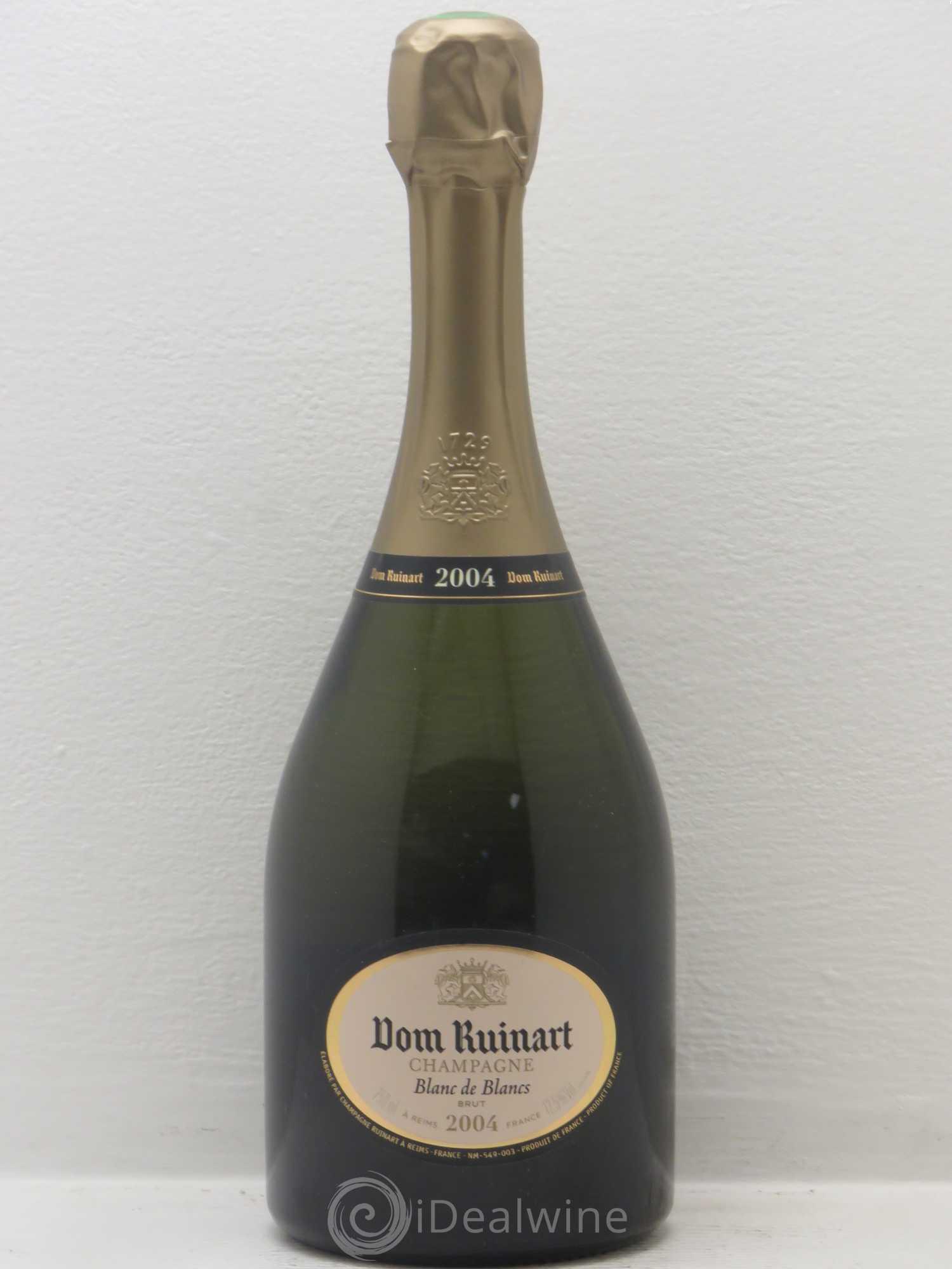 Acheter dom ruinart ruinart blanc de blancs 2004 lot 2054 - Prix champagne ruinart blanc de blanc ...