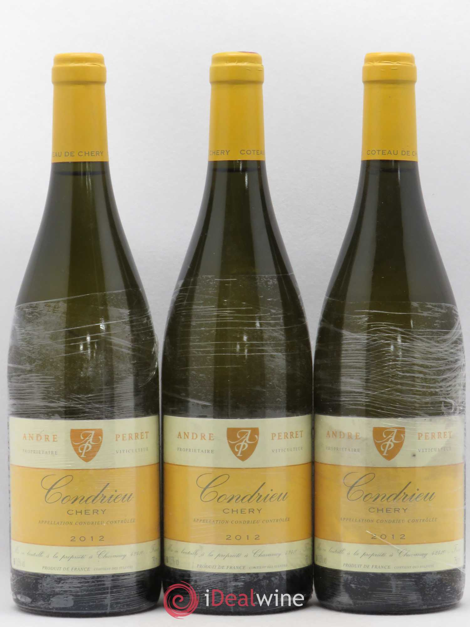 Condrieu Chery André Perret  2012 - Lot of 3 Bottles
