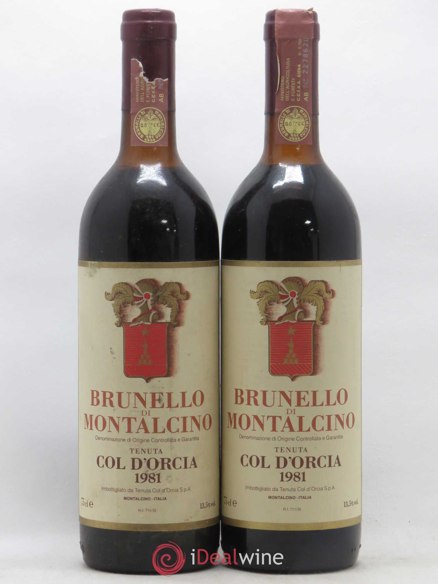 Brunello di Montalcino DOCG Col d'Orcia 1981 - Lot of 2 Bottles