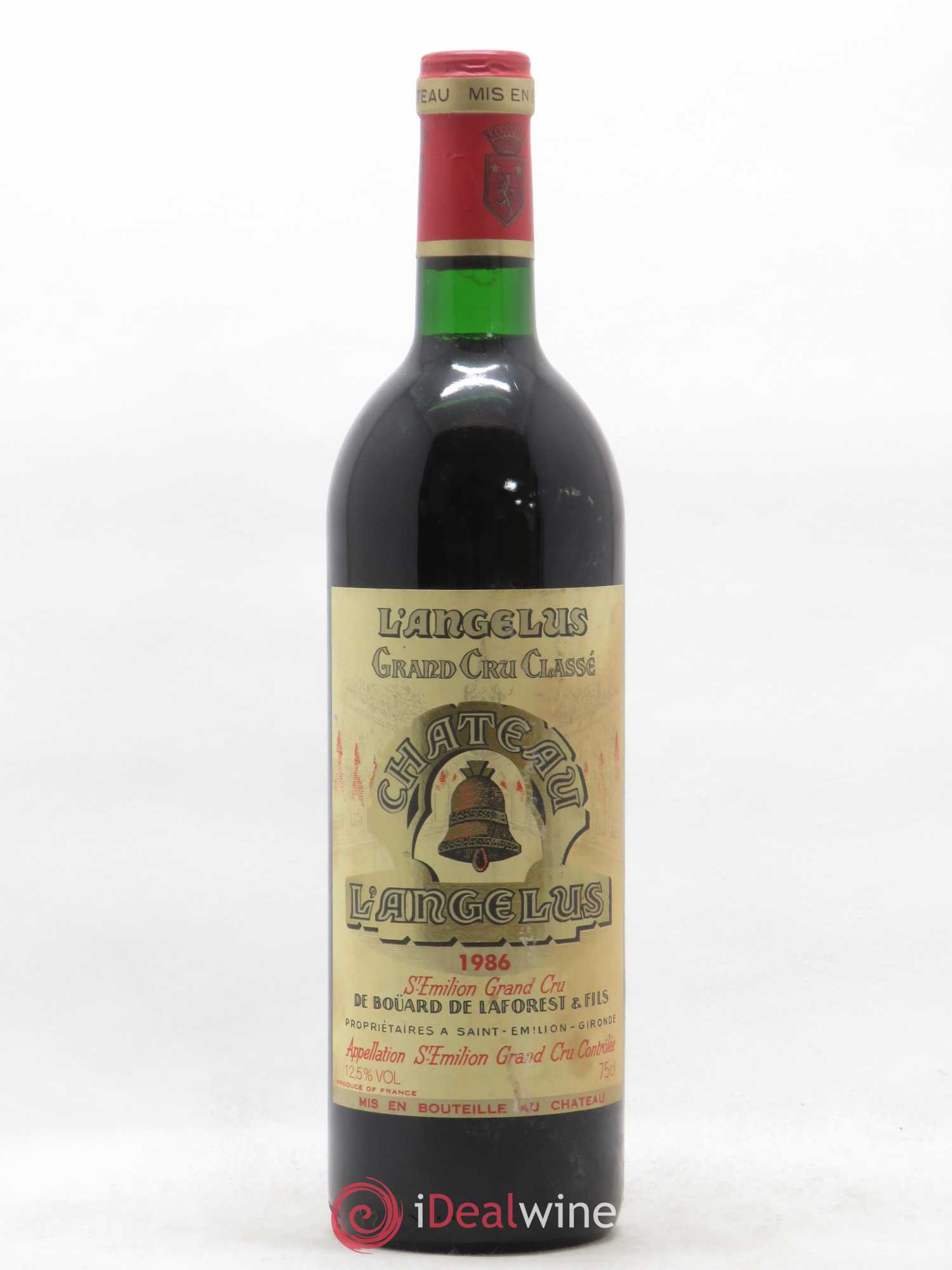 Château Angélus 1er Grand Cru Classé A  1986 - Lot of 1 Bottle