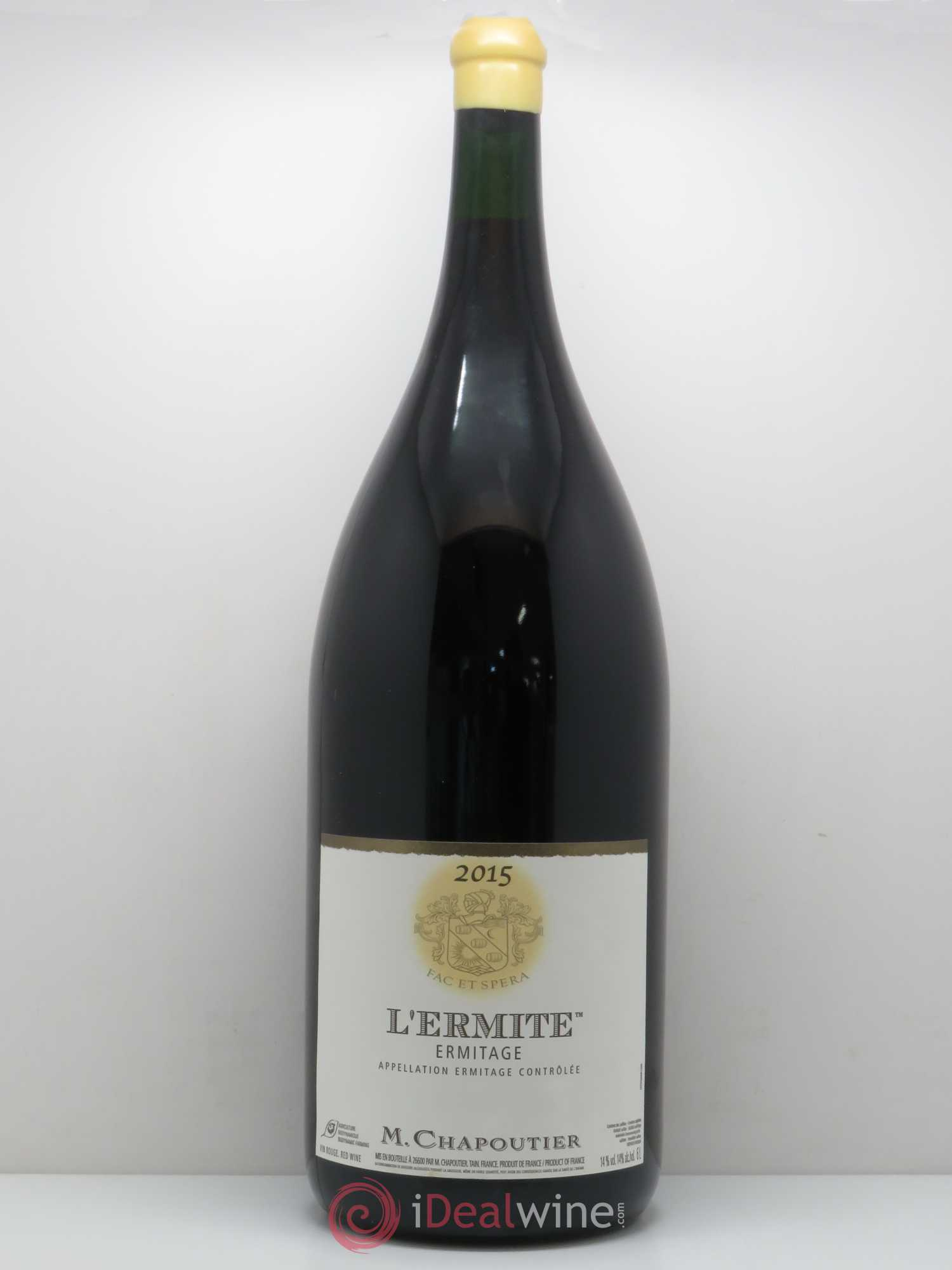 Hermitage Ermitage l'Ermite Chapoutier  2015 - Lot of 1 Methuselah