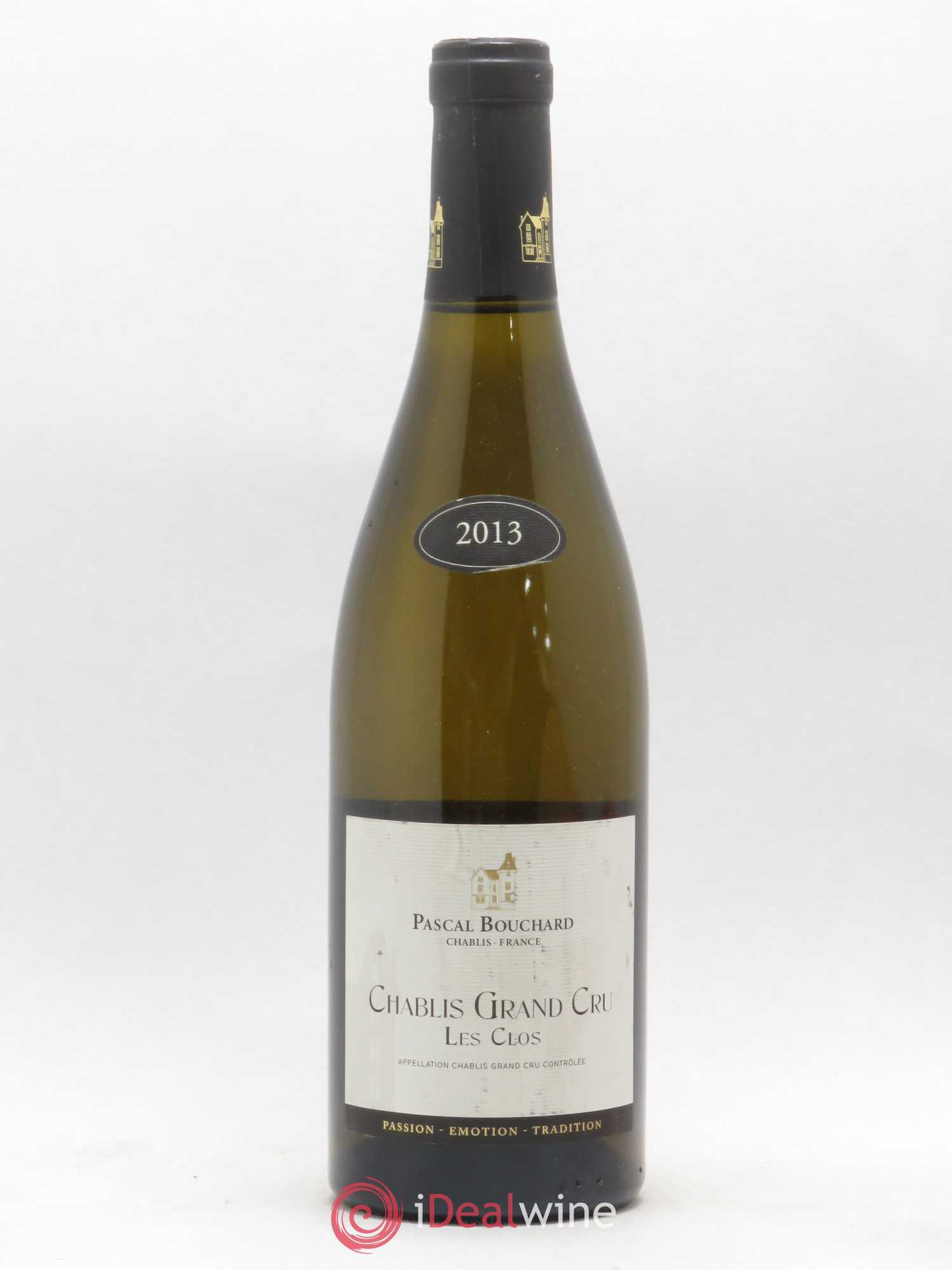 Chablis Grand Cru Les Clos Pascal Bouchard 2013 - Lot of 1 Bottle