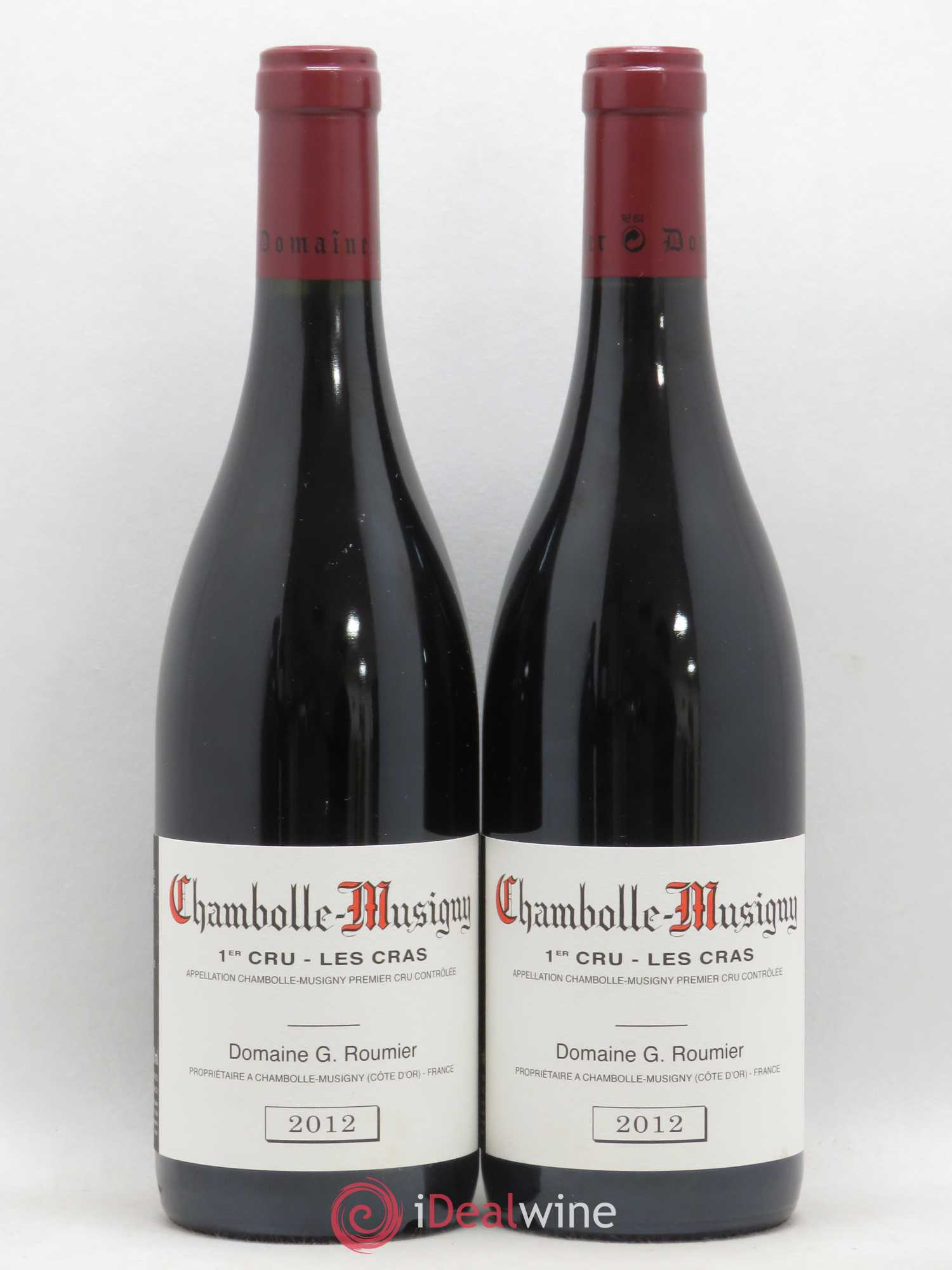 Chambolle-Musigny 1er Cru Les Cras Georges Roumier (Domaine)  2012 - Lot of 2 Bottles