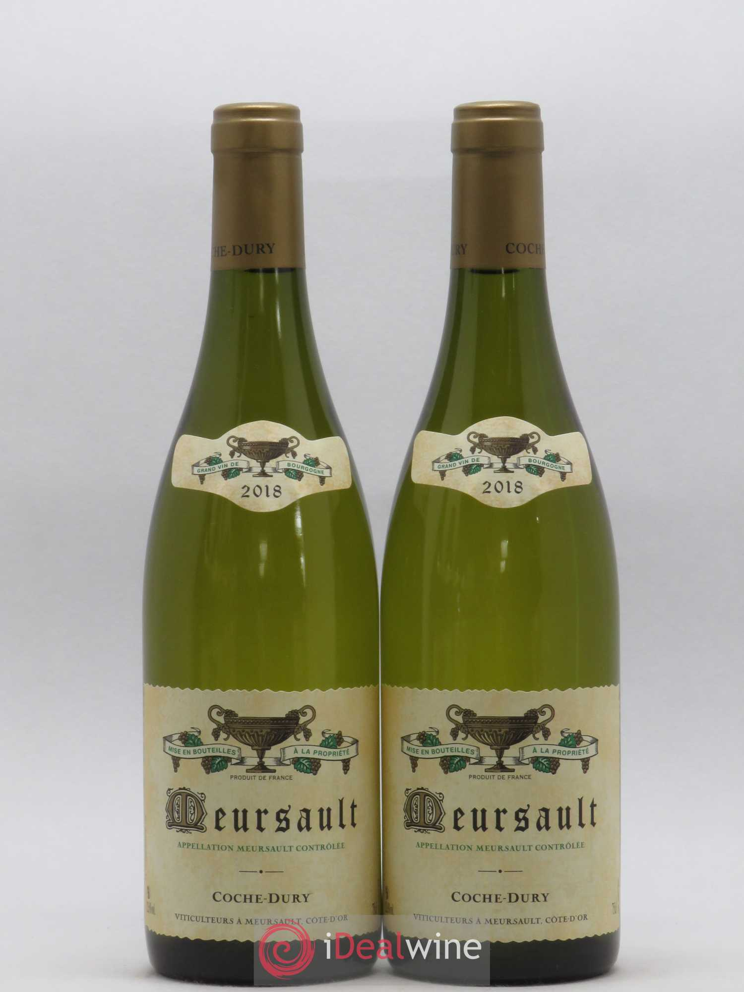 Meursault Coche Dury (Domaine)  2018 - Lot of 2 Bottles