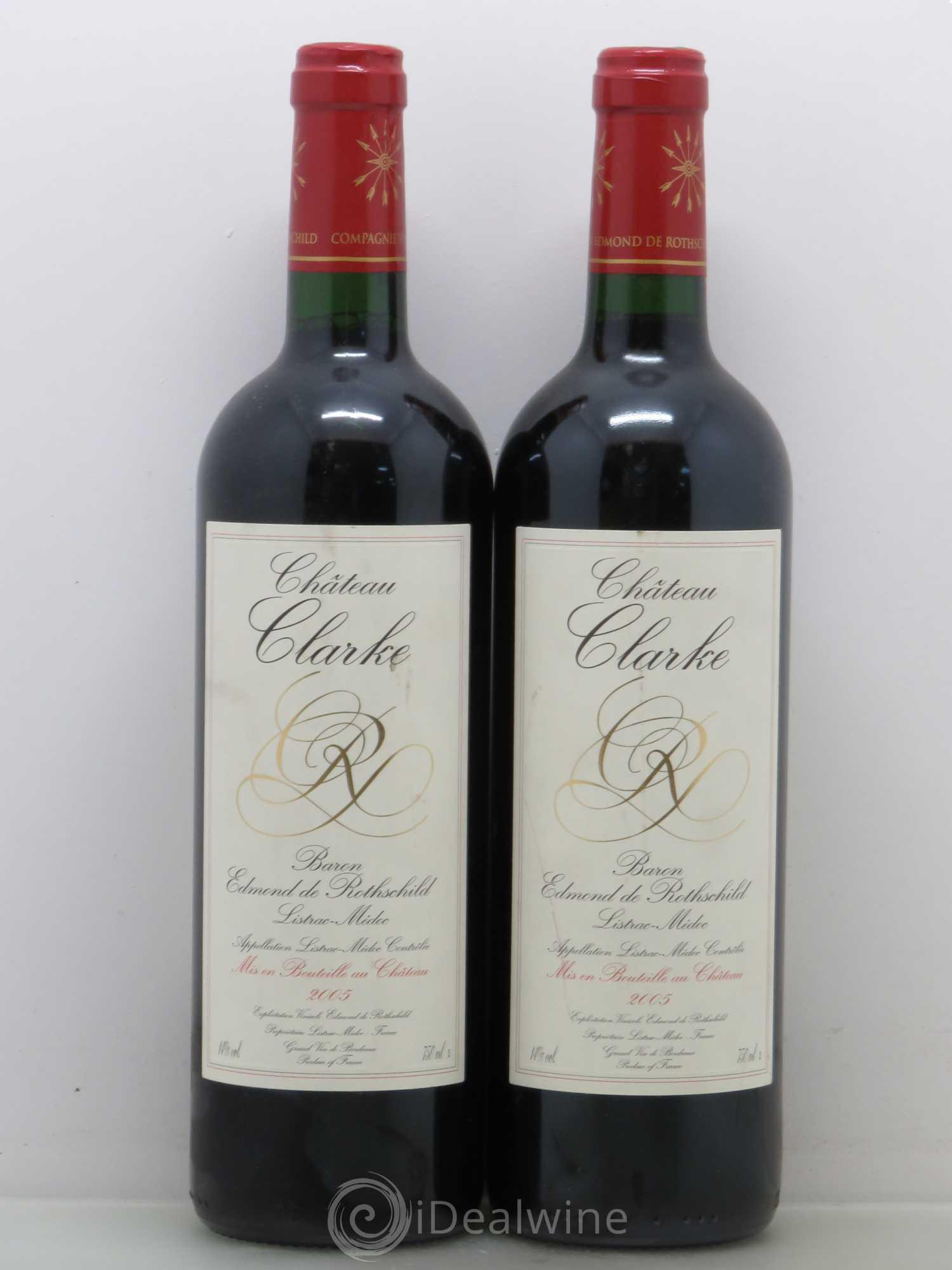 Acheter ch teau clarke cru bourgeois 2005 lot 12013 for Chateau clarke