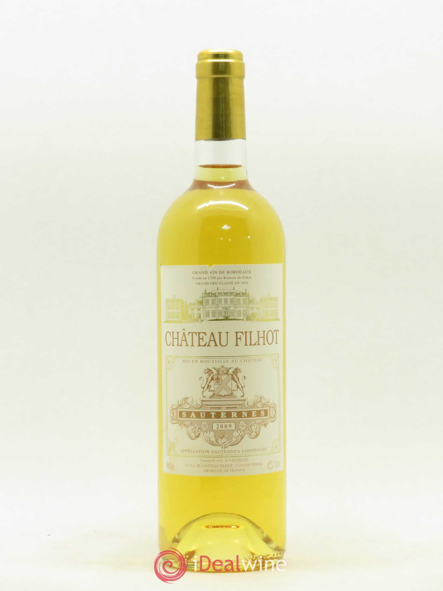 Château Filhot 2ème Grand Cru Classé  2009 - Lot of 1 Bottle