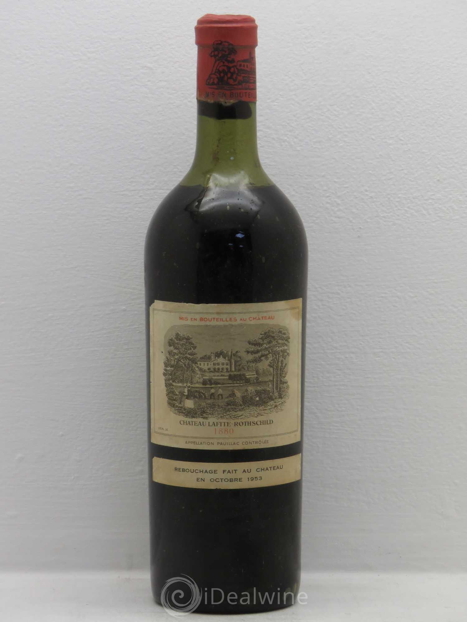 Château Lafite Rothschild 1er Grand Cru Classé  1880 - Lot of 1 Bottle
