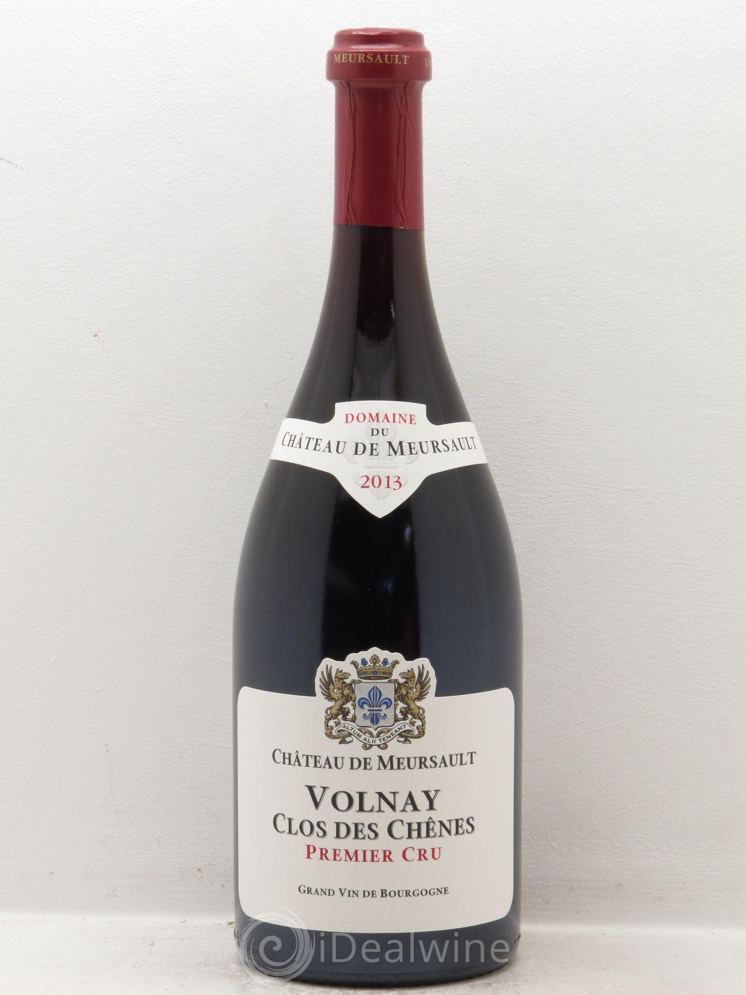 Buy Volnay 1er Cru Clos Des Chênes Château De Meursault 2013 Lot 15566