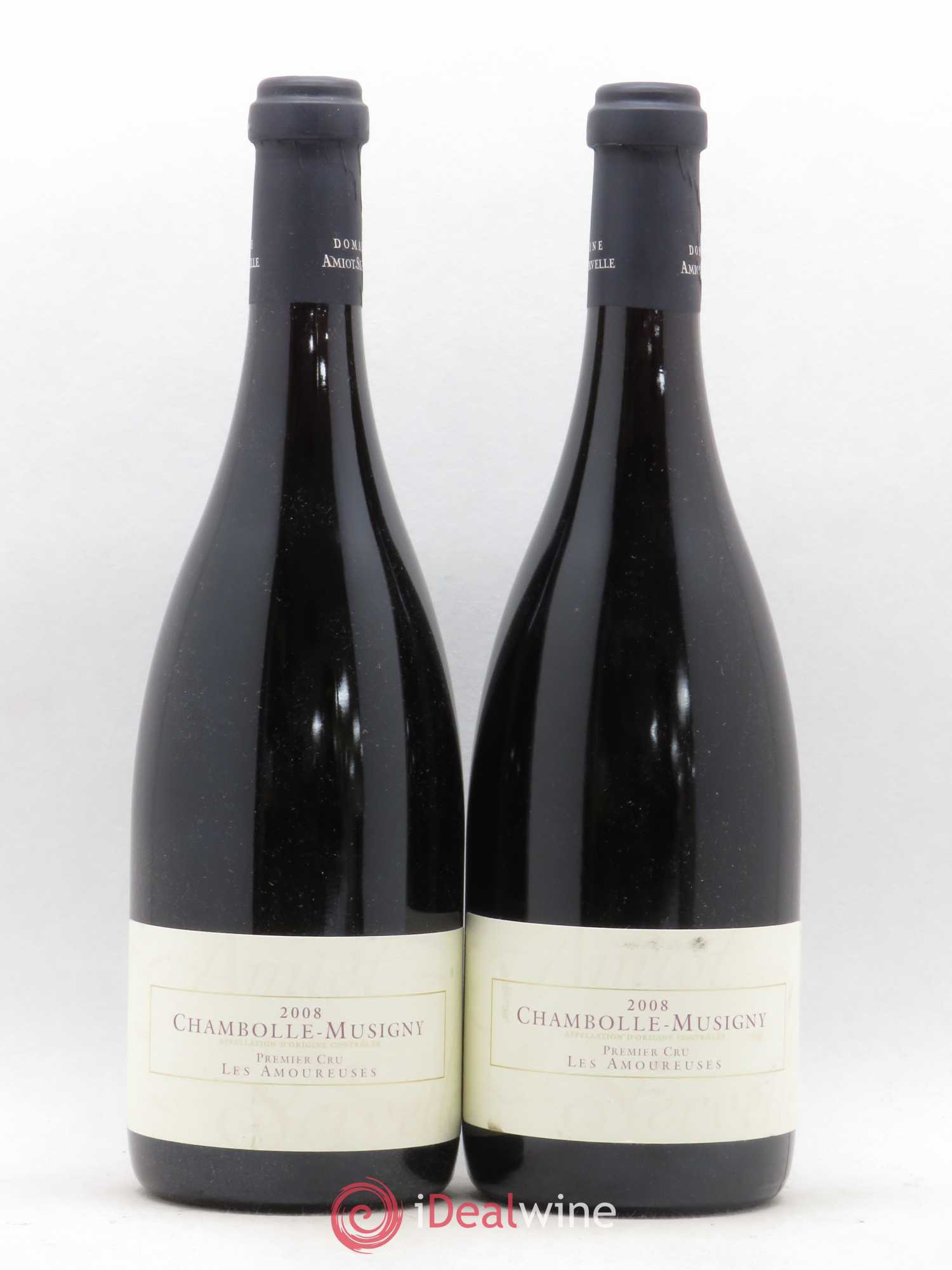 Chambolle-Musigny 1er Cru Les Amoureuses Amiot-Servelle  2008 - Lot of 2 Bottles