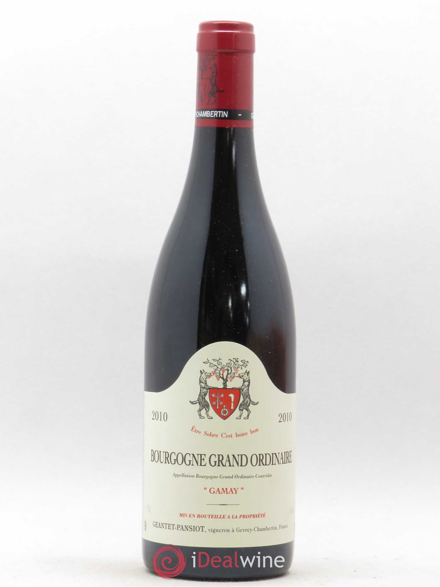 Bourgogne Grand Ordinaire Gamay Geantet Pansiot