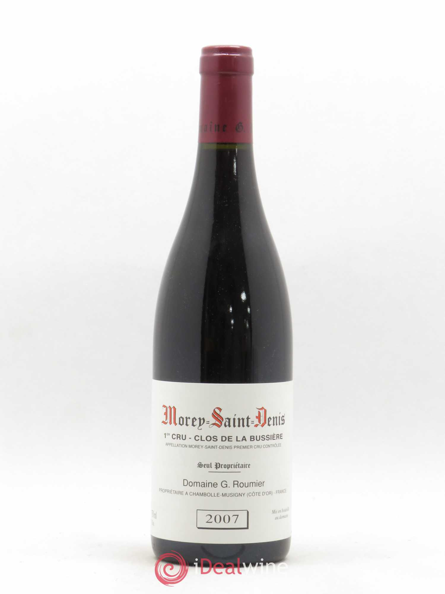 Morey Saint-Denis 1er Cru Clos de la Bussière Georges Roumier (Domaine)  2007 - Lot of 1 Bottle