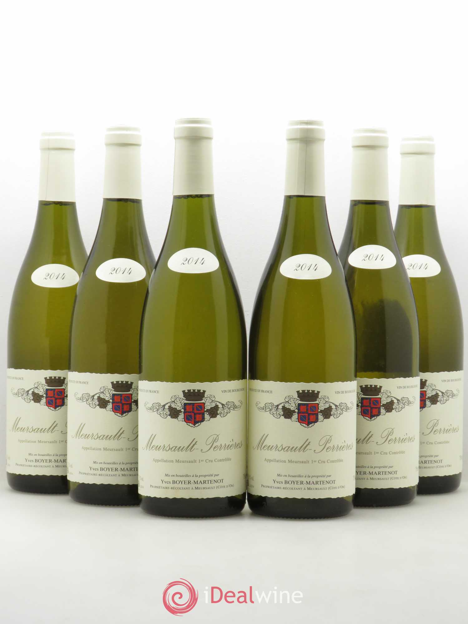 Meursault 1er Cru Les Perrieres Yves Boyer Martenot 2014 - Lot of 6 Bottles