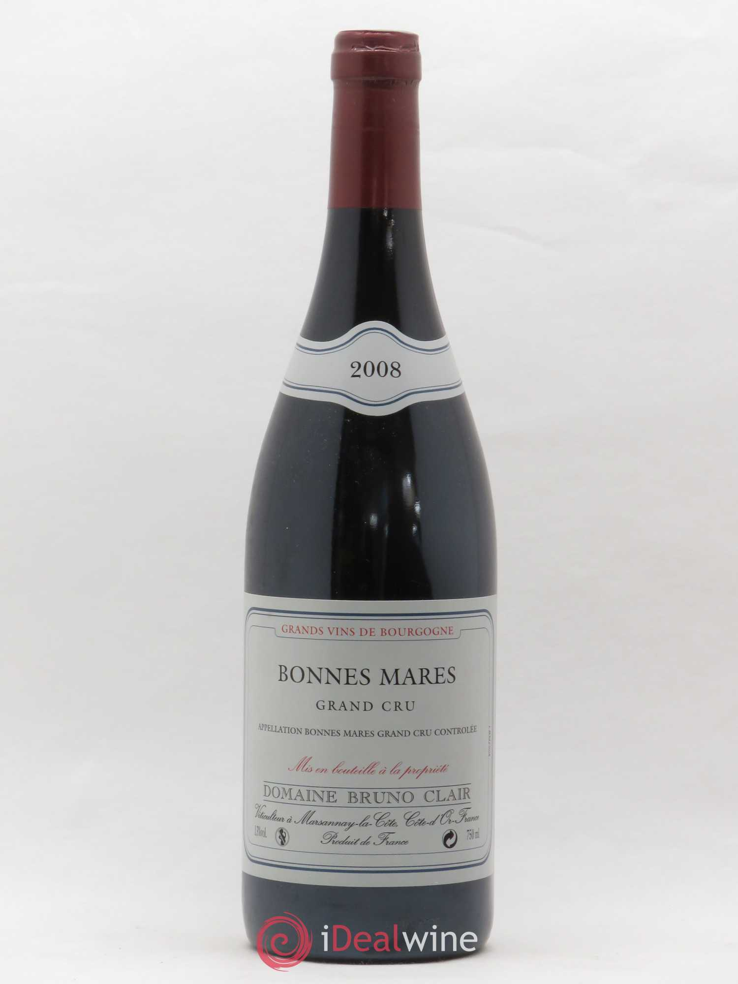 Bonnes-Mares Grand Cru Bruno Clair (Domaine)  2008 - Lot of 1 Bottle