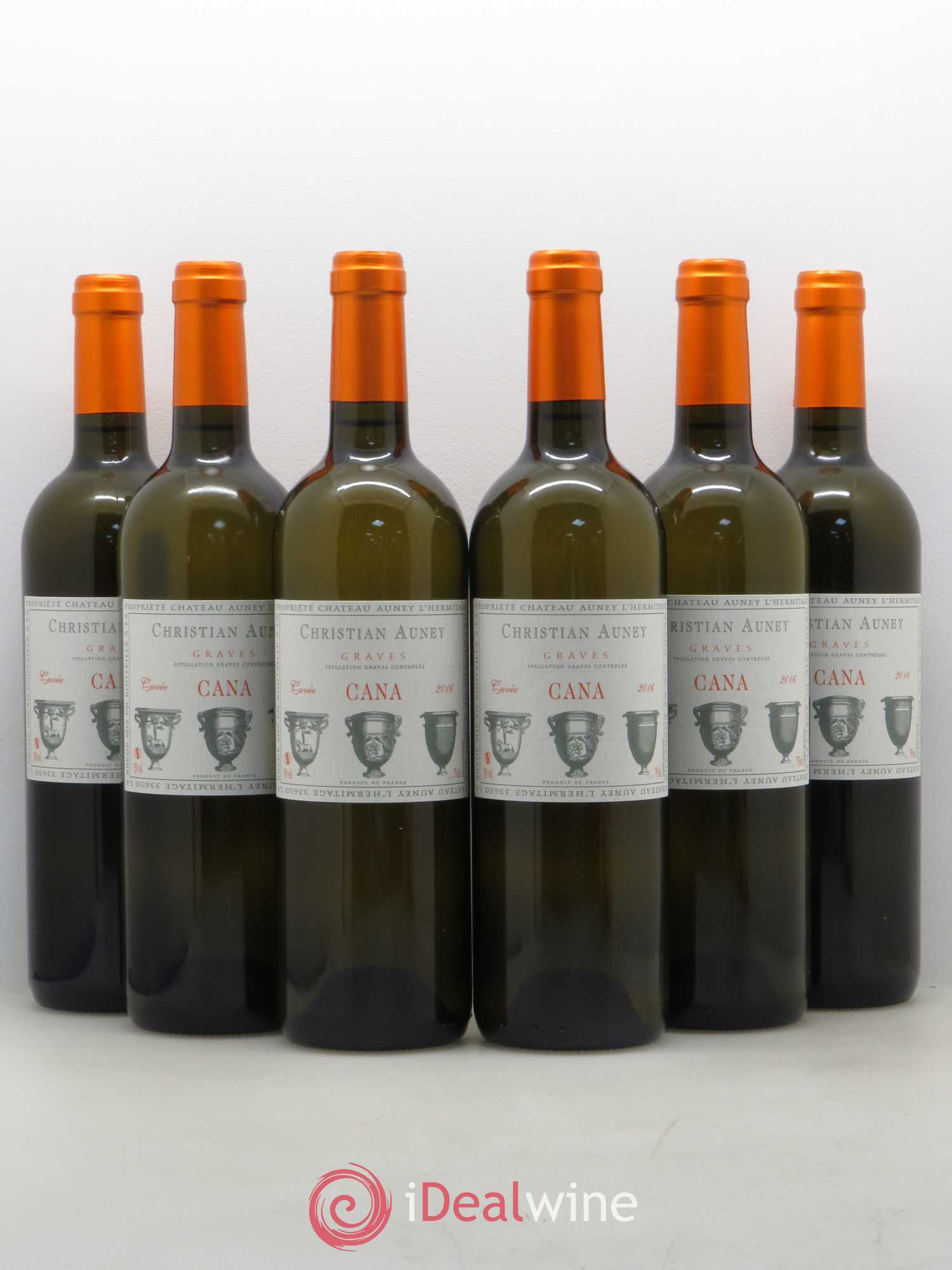Graves Château Auney L'Hermitage (no reserve) 2016 - Lot of 6 Bottles