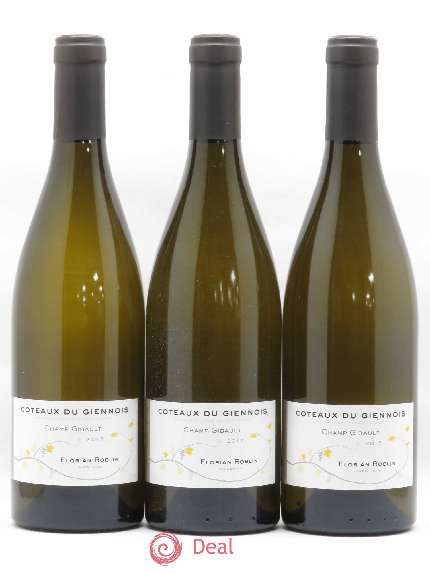 Divers Coteaux du Giennois Champ Gibault Florian Roblin (no reserve) 2017 - Lot of 3 Bottles