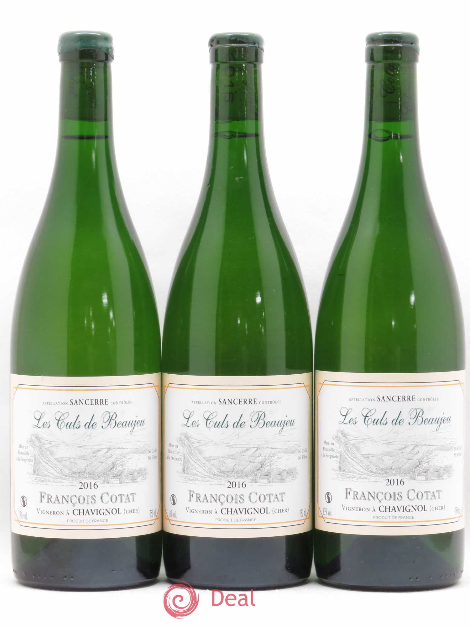 Sancerre Les Culs de Beaujeu François Cotat  2016 - Lot of 3 Bottles