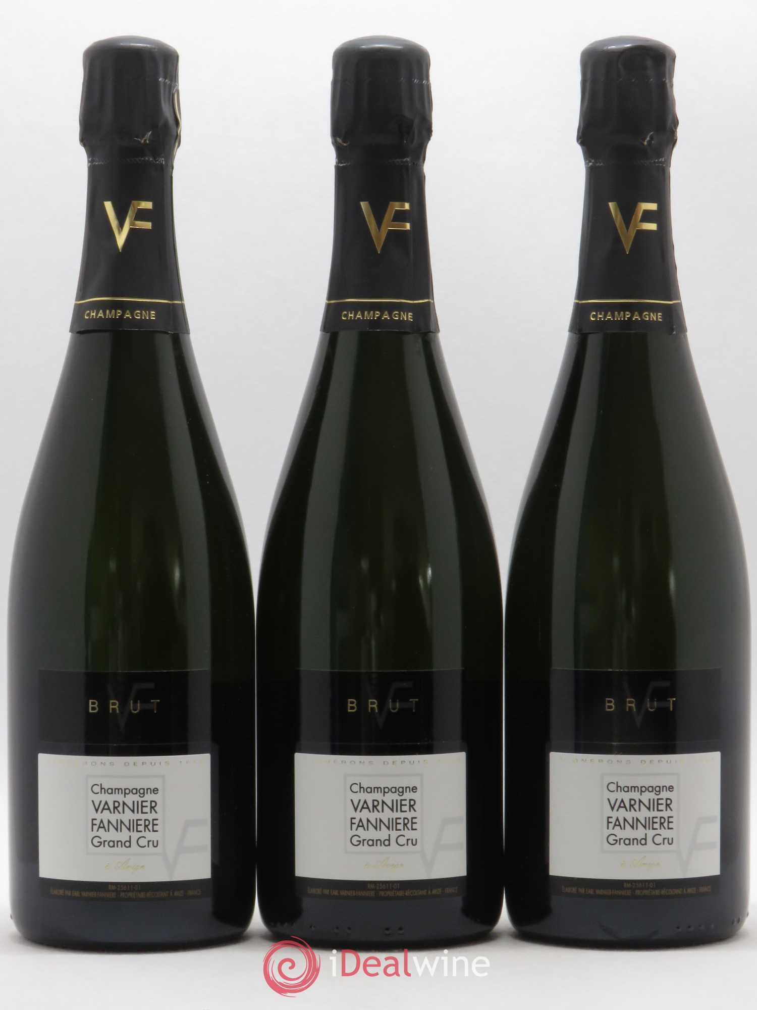 Champagne Brut Grand Cru Varnier-Fannière (no reserve)  - Lot of 3 Bottles