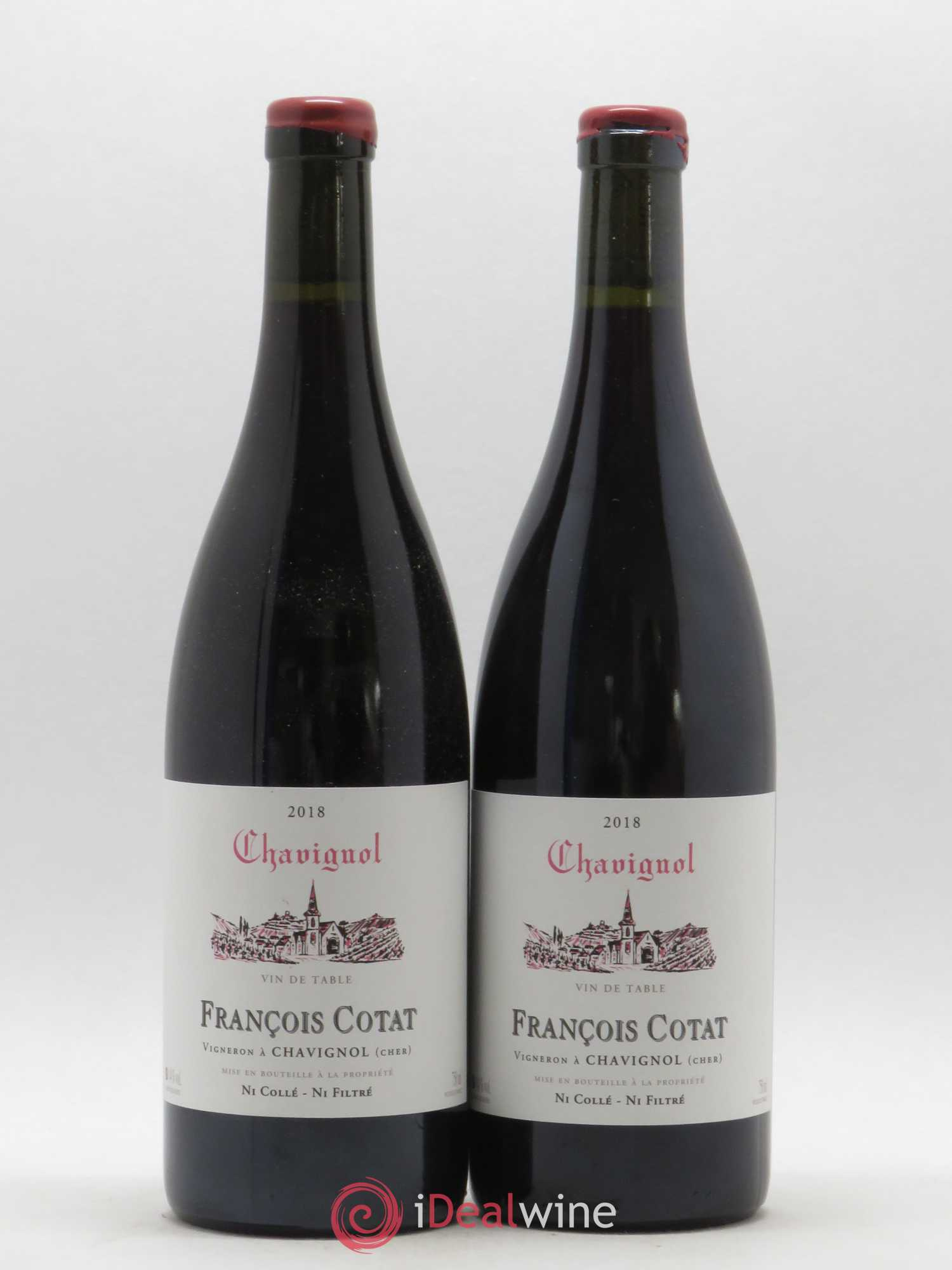 Vin de table - Chavignol François Cotat (no reserve) 2018 - Lot of 2 Bottles