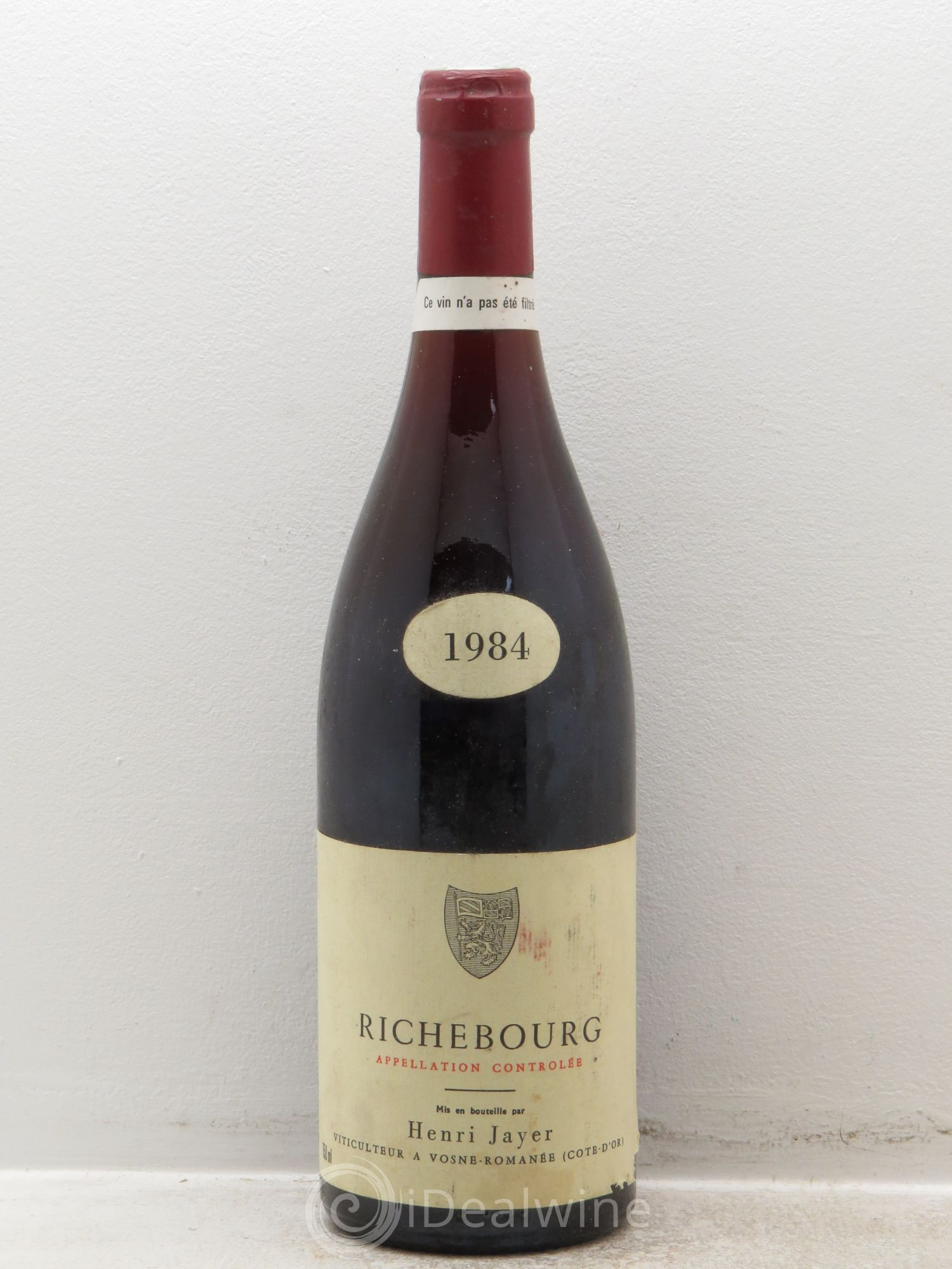 Richebourg Grand Cru Henri Jayer  1984 - Lot de 1 Bouteille