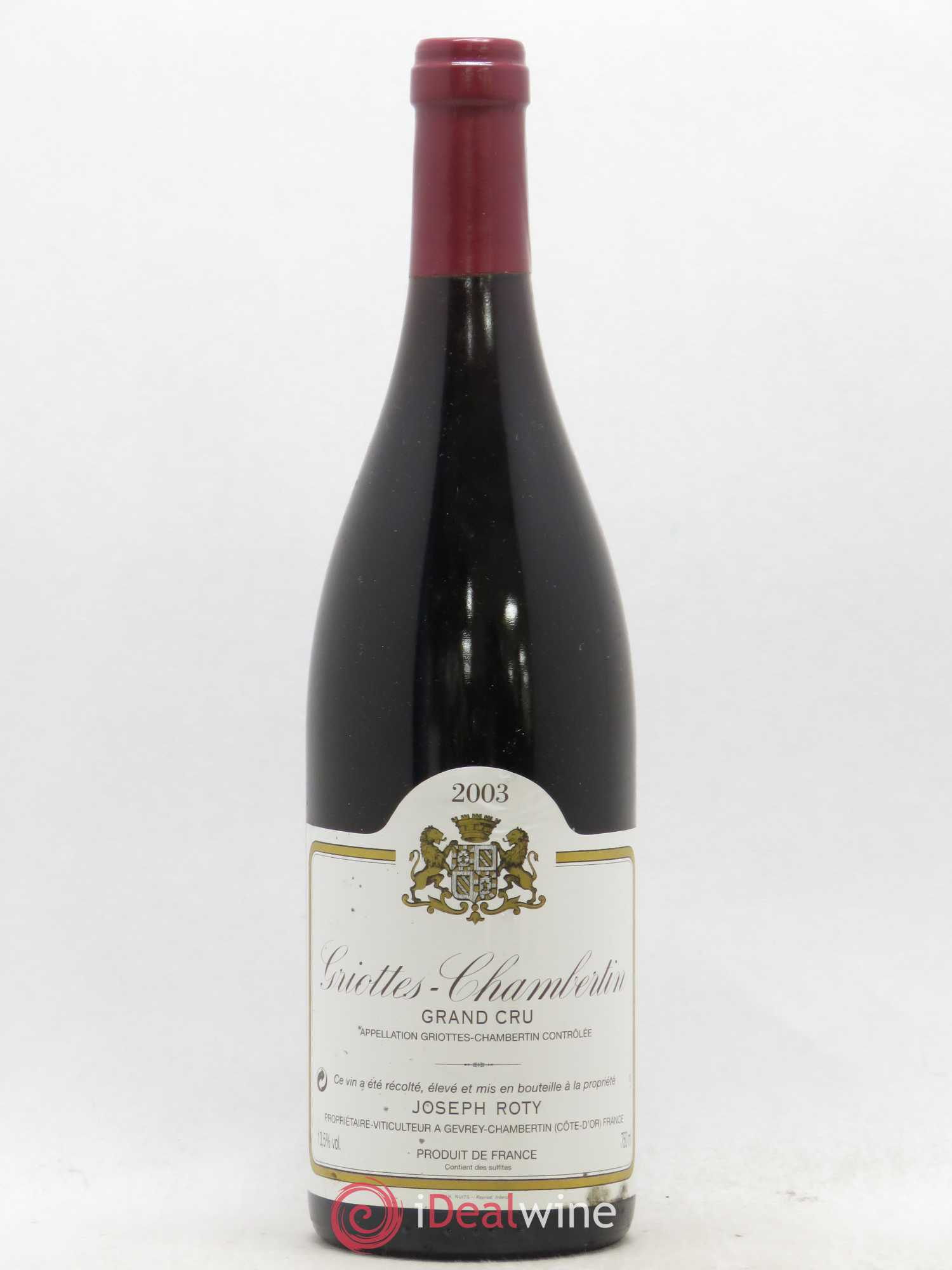 Griotte-Chambertin Grand Cru Joseph Roty (Domaine)  2003 - Lot of 1 Bottle