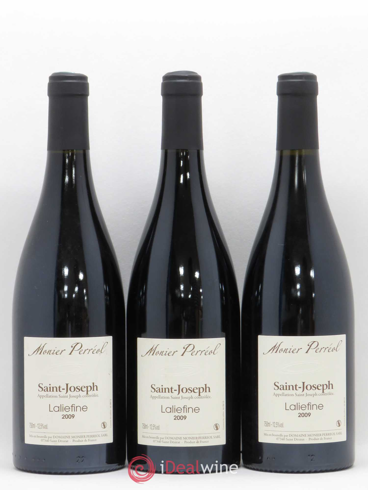 Saint-Joseph Laliefine Monier Perreol 2009 - Lot de 3 Bouteilles