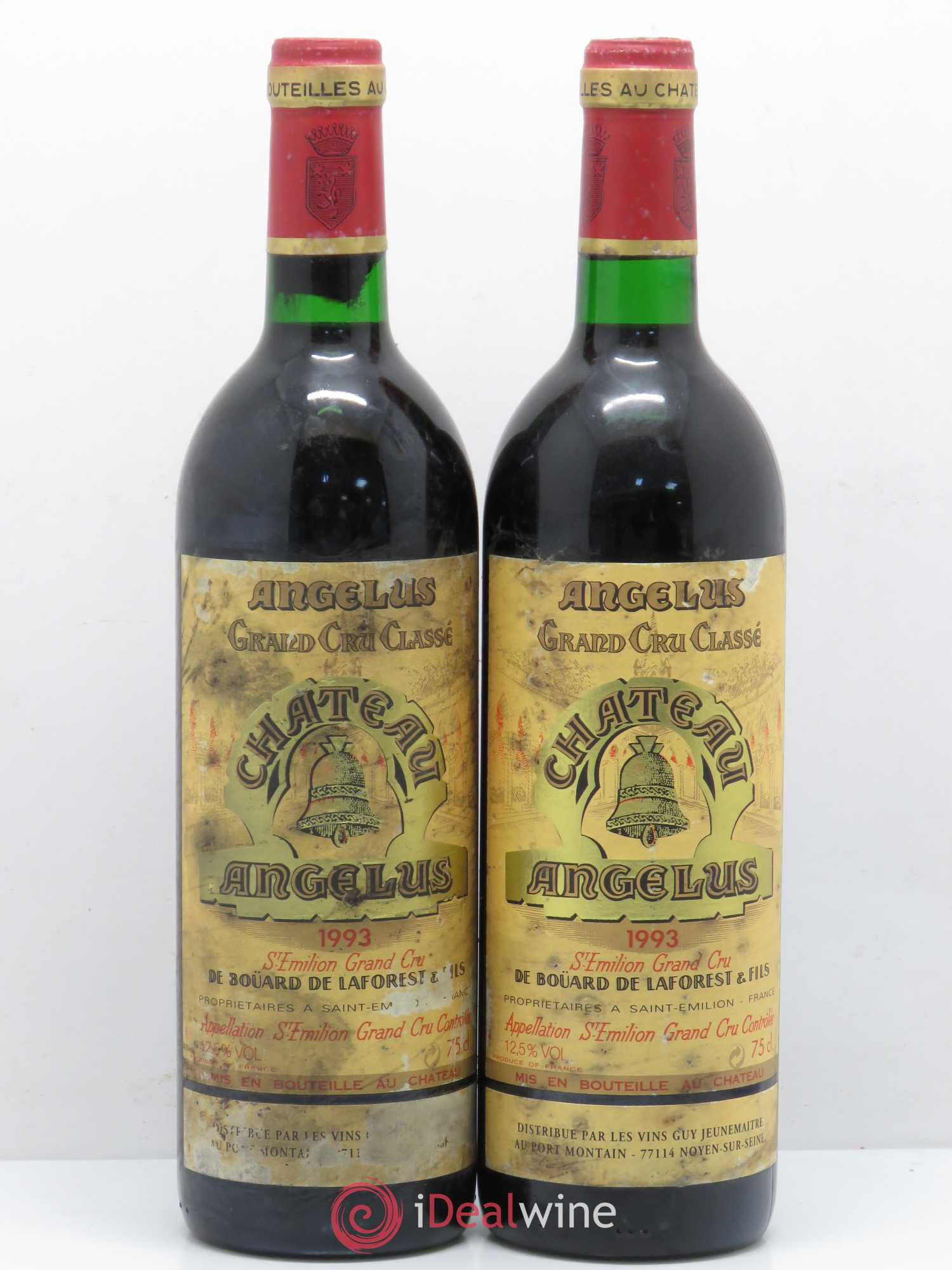 Château Angélus 1er Grand Cru Classé A  1993 - Lot of 2 Bottles