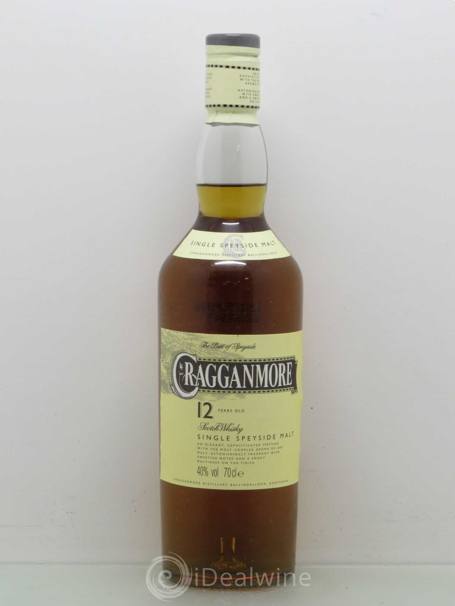 5d058db2fc50 Buy Whisky 12 ans cragganmore 40% (no reserve) (lot: 295)