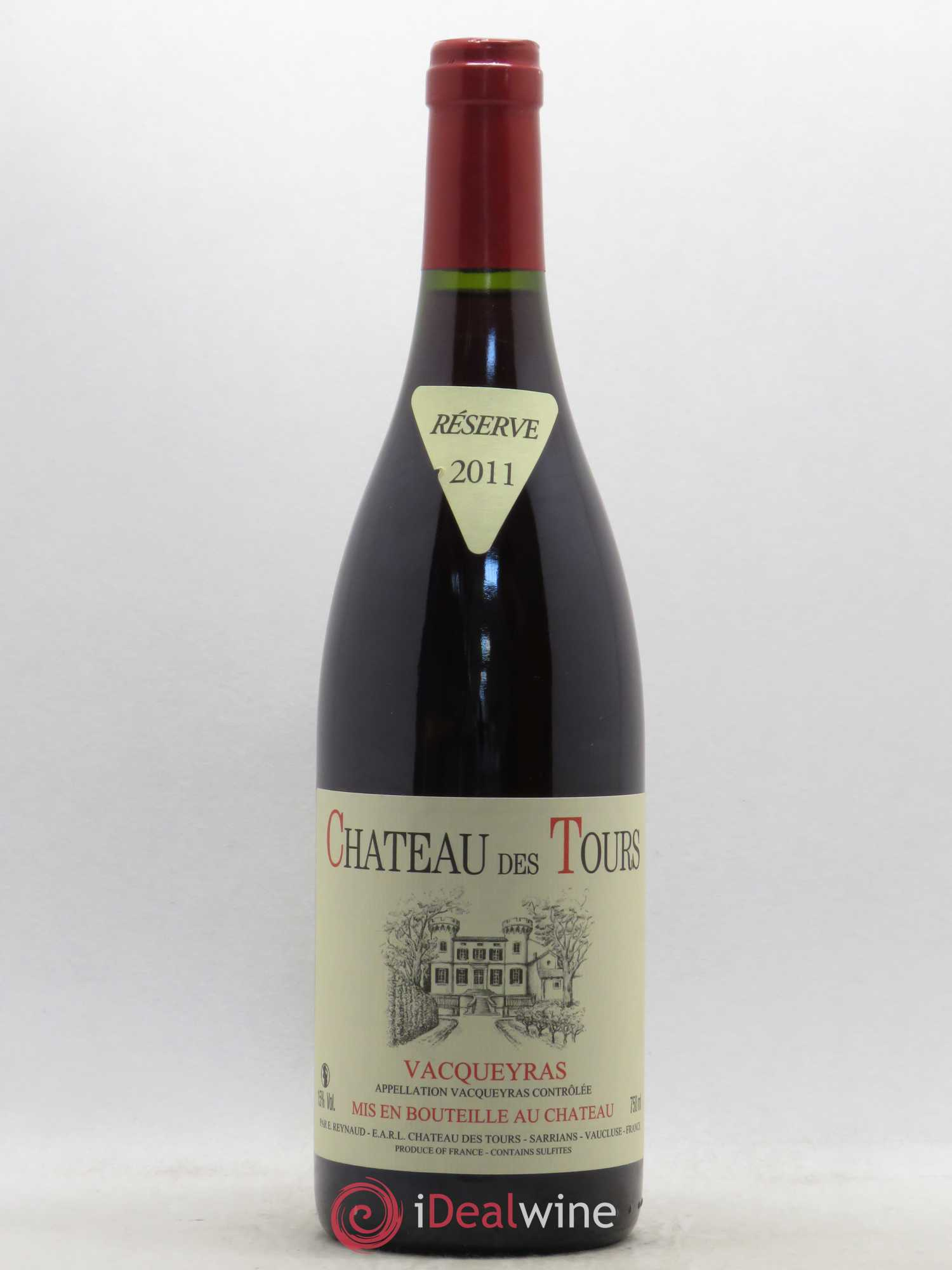 Vacqueyras Château des Tours E.Reynaud  2011 - Lot of 1 Bottle