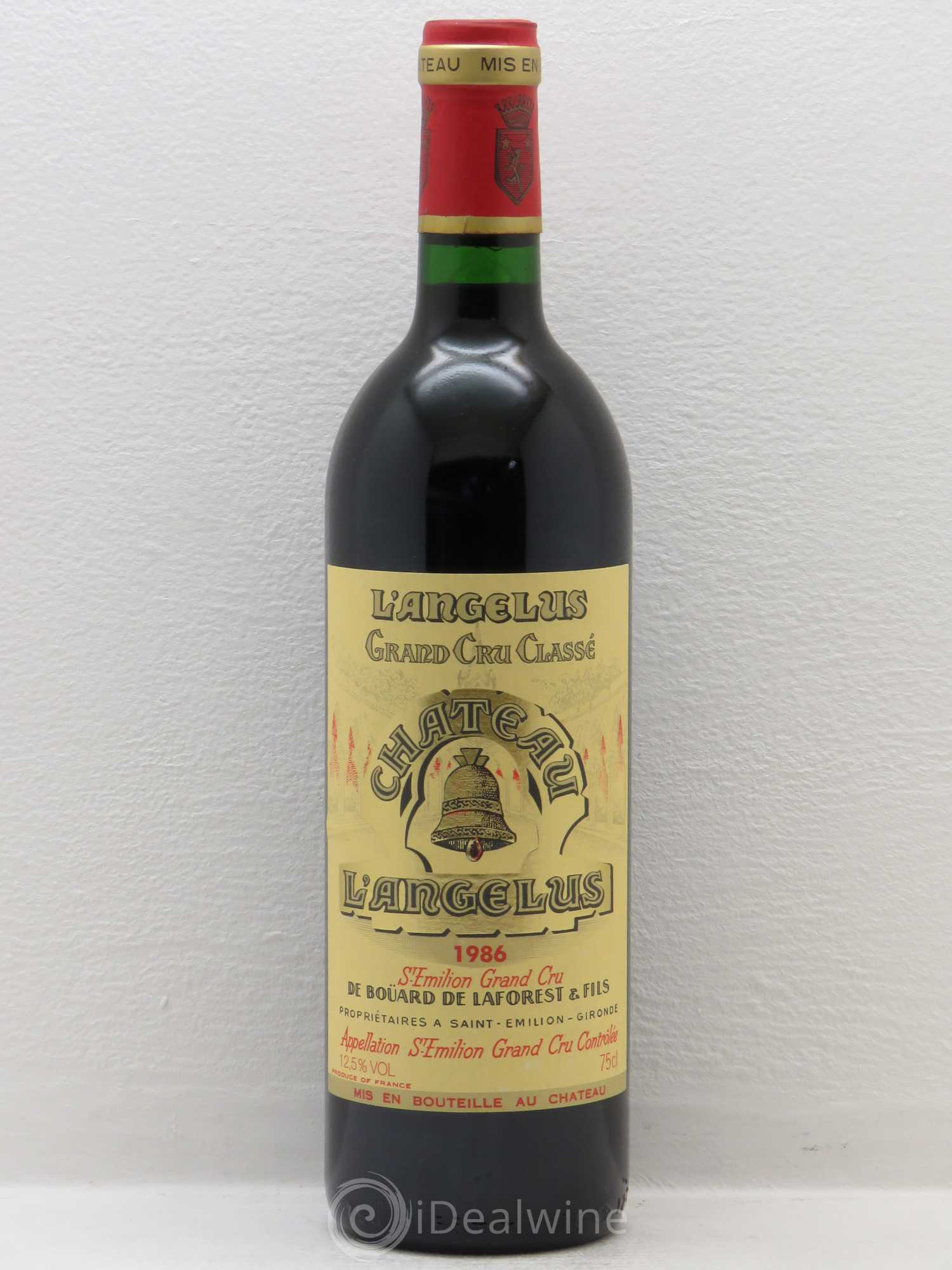 Buy ch teau ang lus 1er grand cru class a 1986 lot 5500 for Chateau angelus