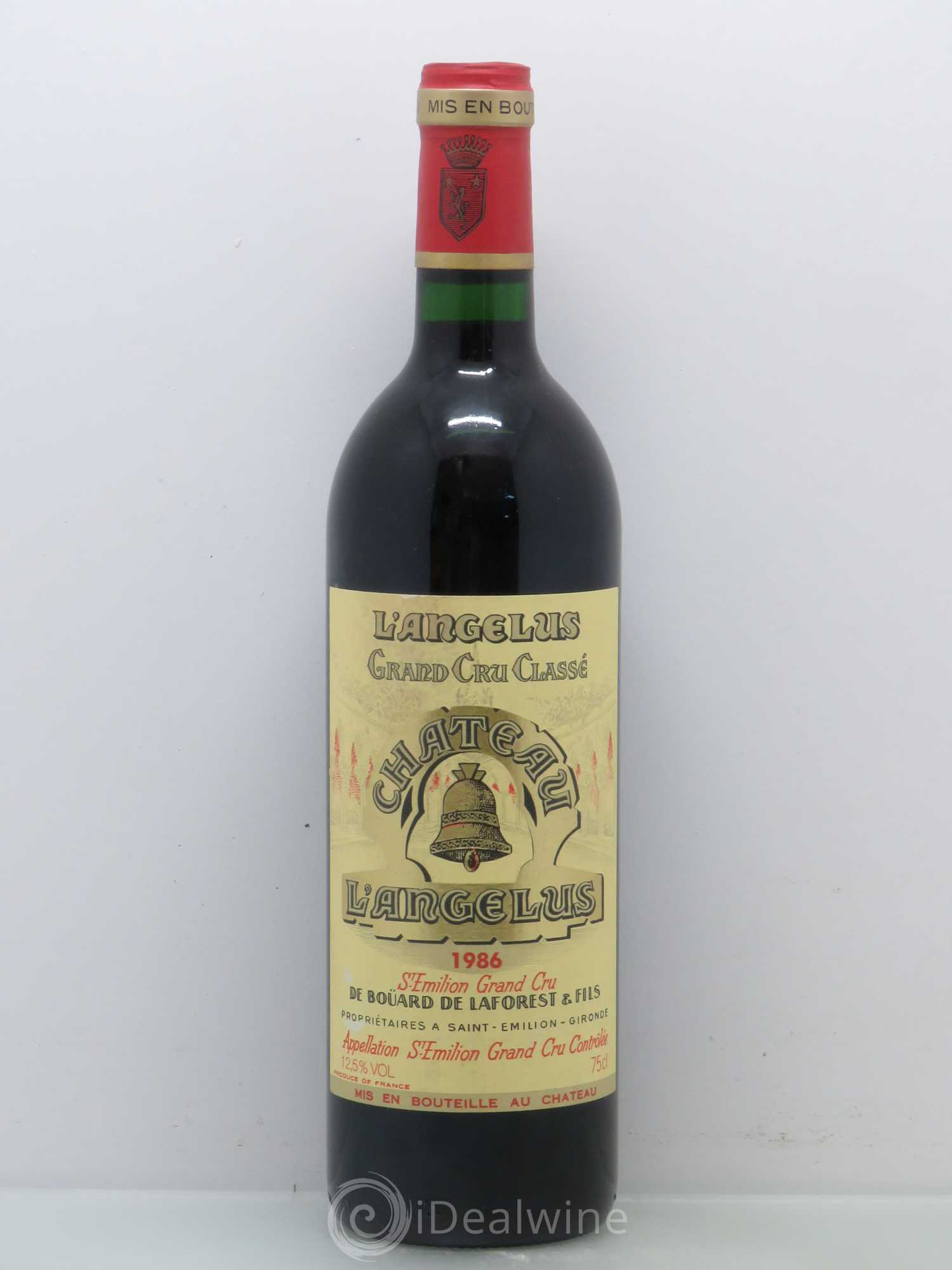 Buy ch teau ang lus 1er grand cru class a 1986 lot 6500 for Chateau angelus