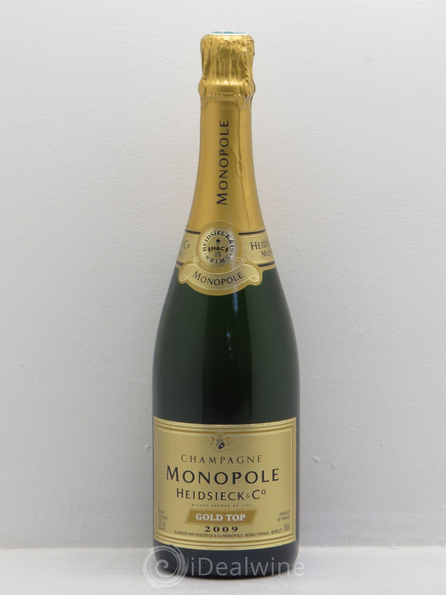 acheter brut champagne heidsieck co monopole monopole gold top sans prix de r serve 2009 lot. Black Bedroom Furniture Sets. Home Design Ideas