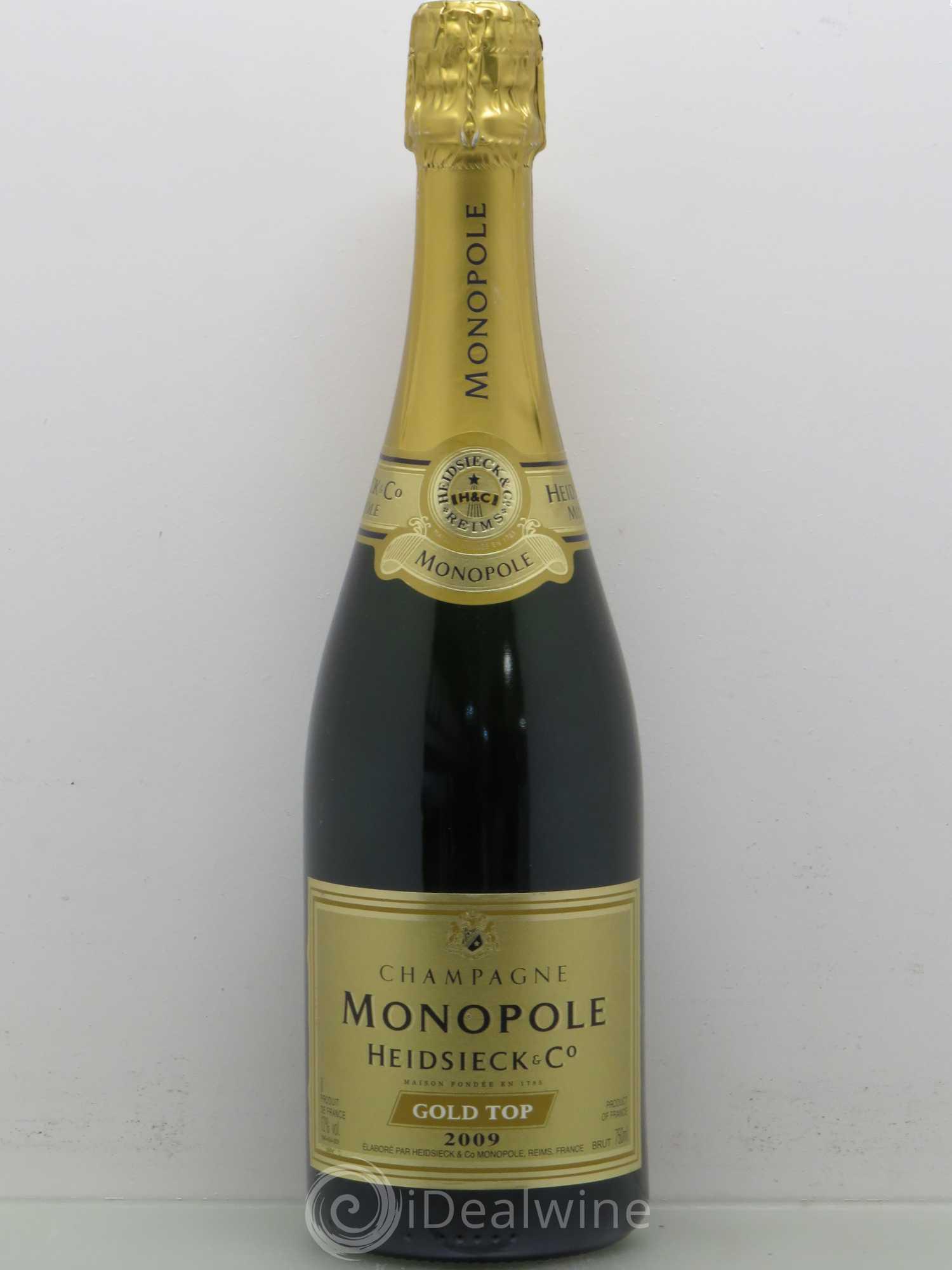 acheter brut champagne heidsieck monopole gold top sans prix de r serve 2009 lot 2607. Black Bedroom Furniture Sets. Home Design Ideas