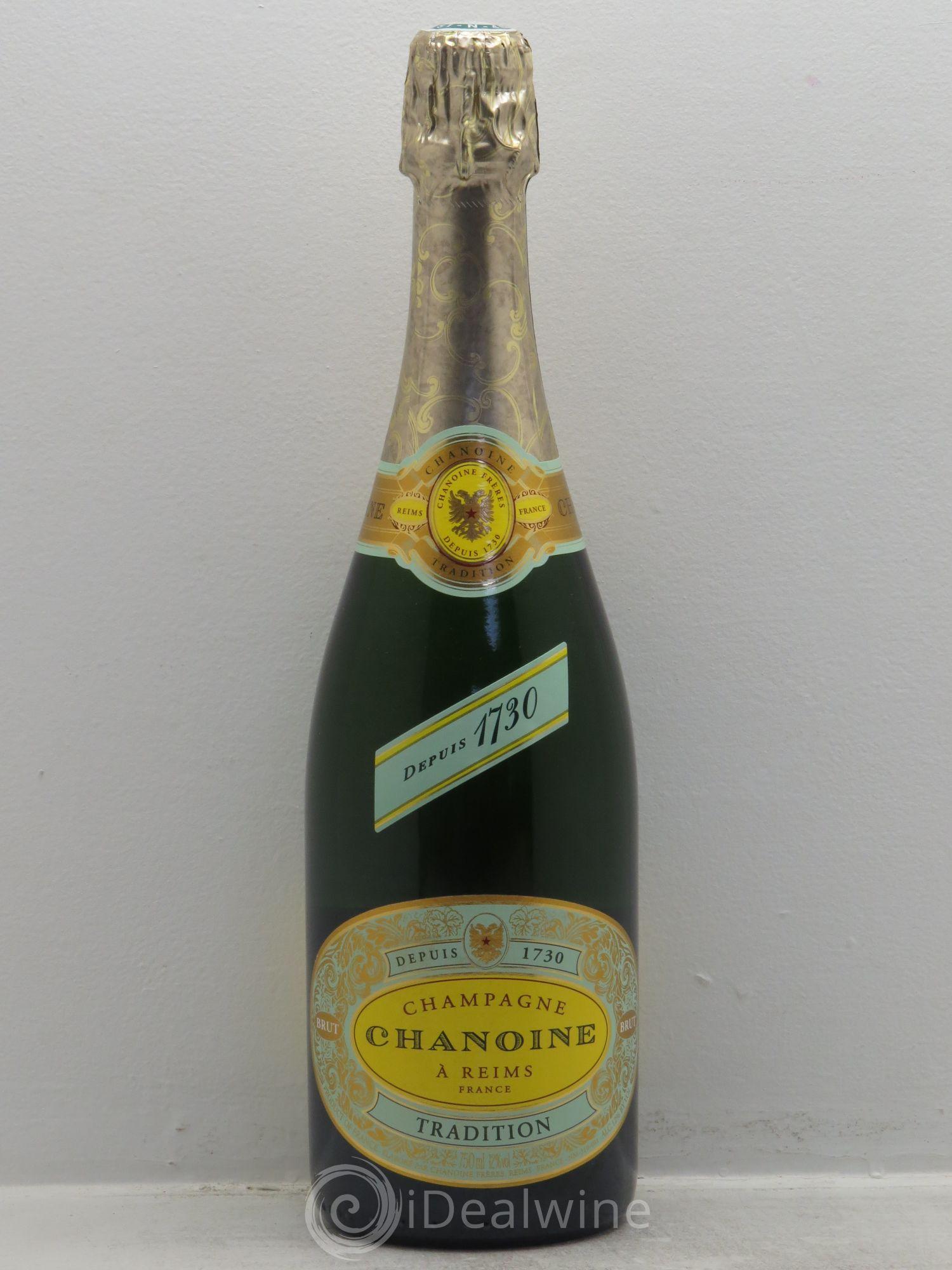 acheter brut champagne chanoine tradition sans prix de r serve lot 1080. Black Bedroom Furniture Sets. Home Design Ideas