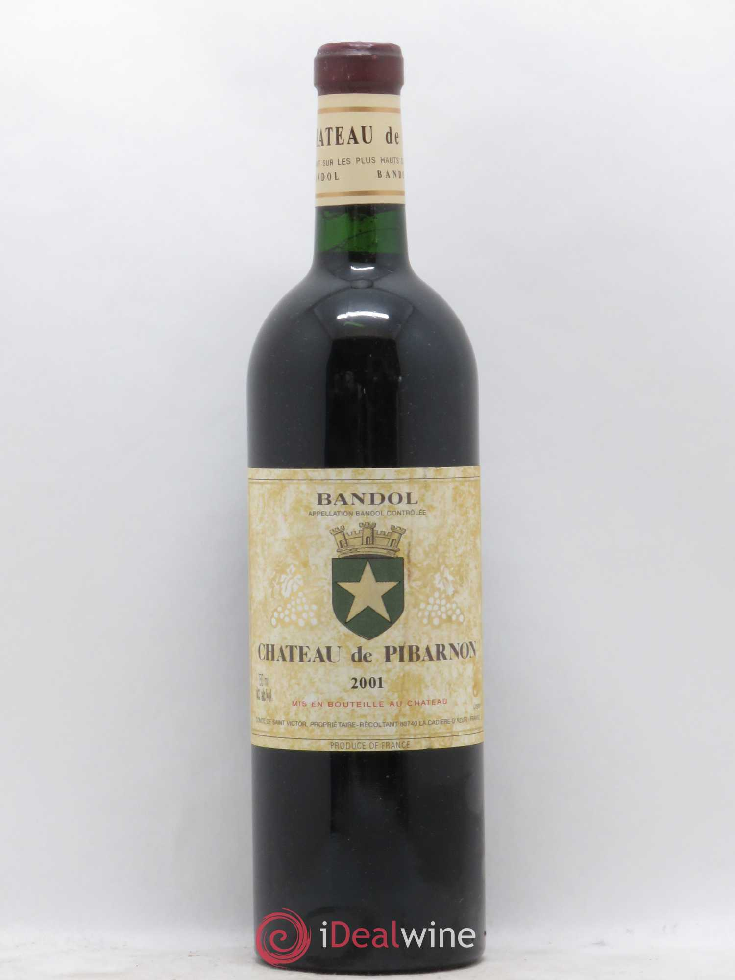 Bandol Château de Pibarnon Comte de Saint-Victor  2001 - Lot of 1 Bottle