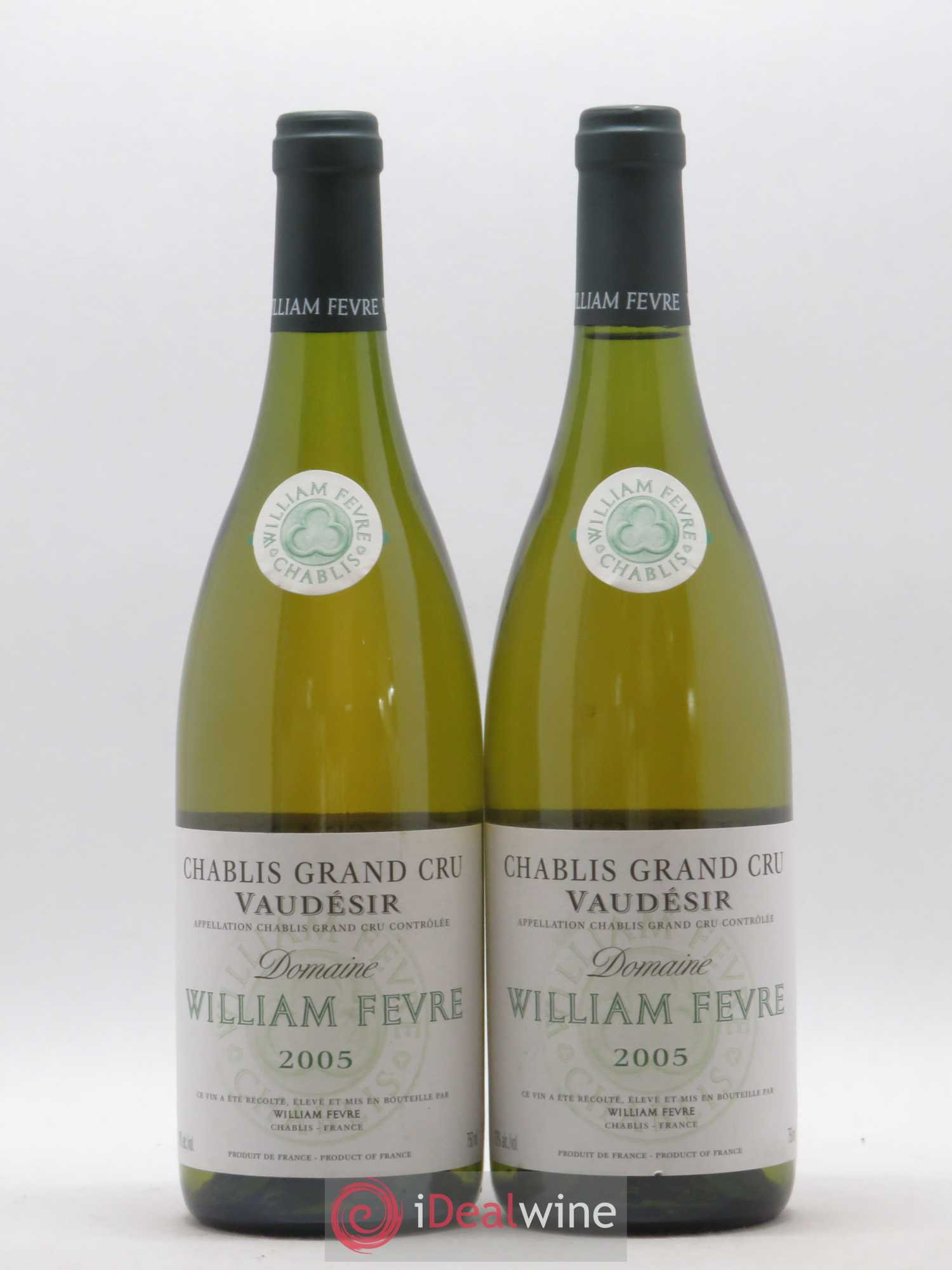 Chablis Grand Cru Vaudésir William Fèvre (Domaine)  2005 - Lot of 2 Bottles