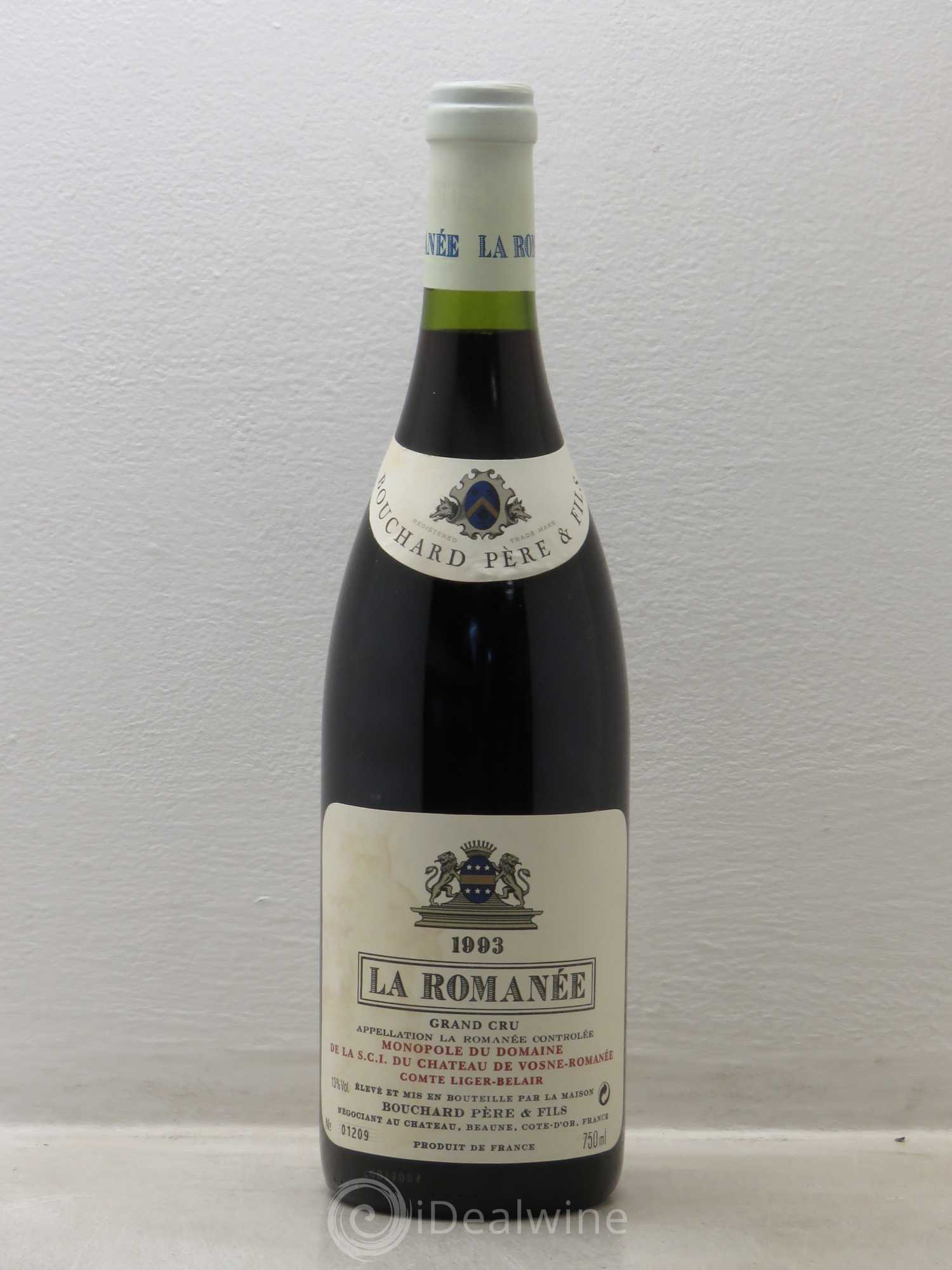 La Romanée Grand Cru Comte Liger-Belair (Domaine du)  1993 - Lot of 1 Bottle